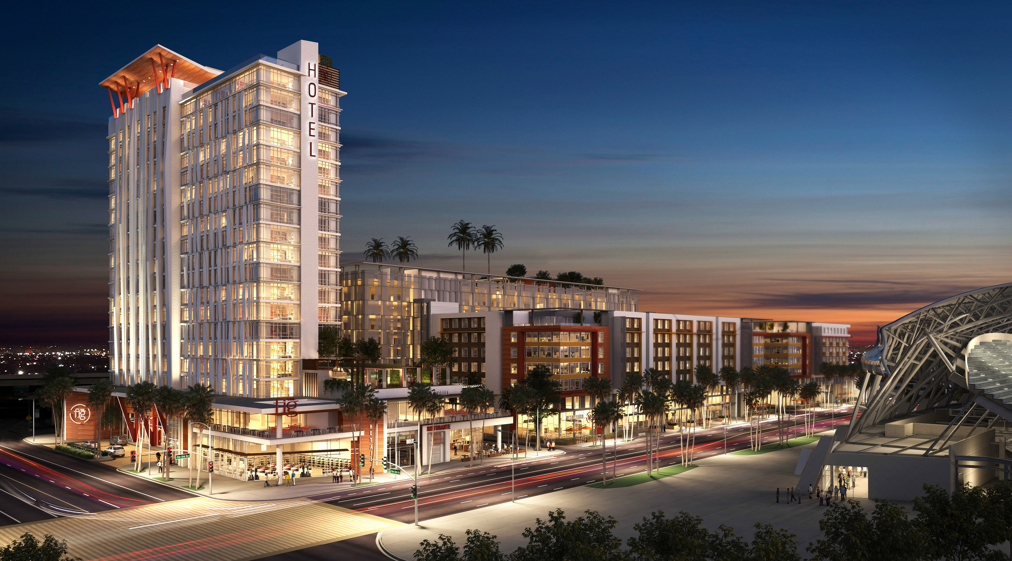 Plans for a 21-story tower dropped from massive Figueroa Street project
