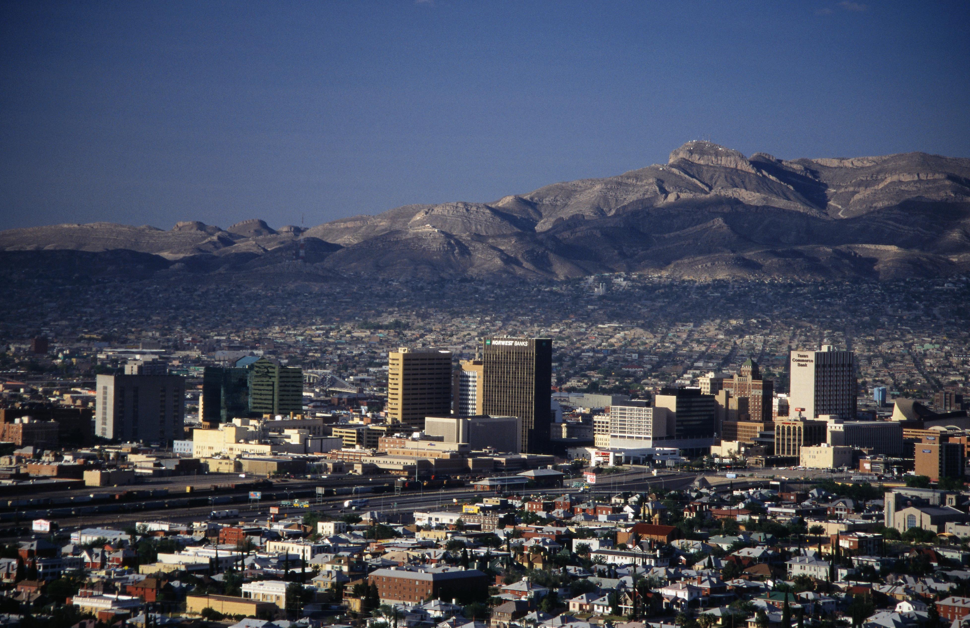 Ciudad Juarez, aerial view