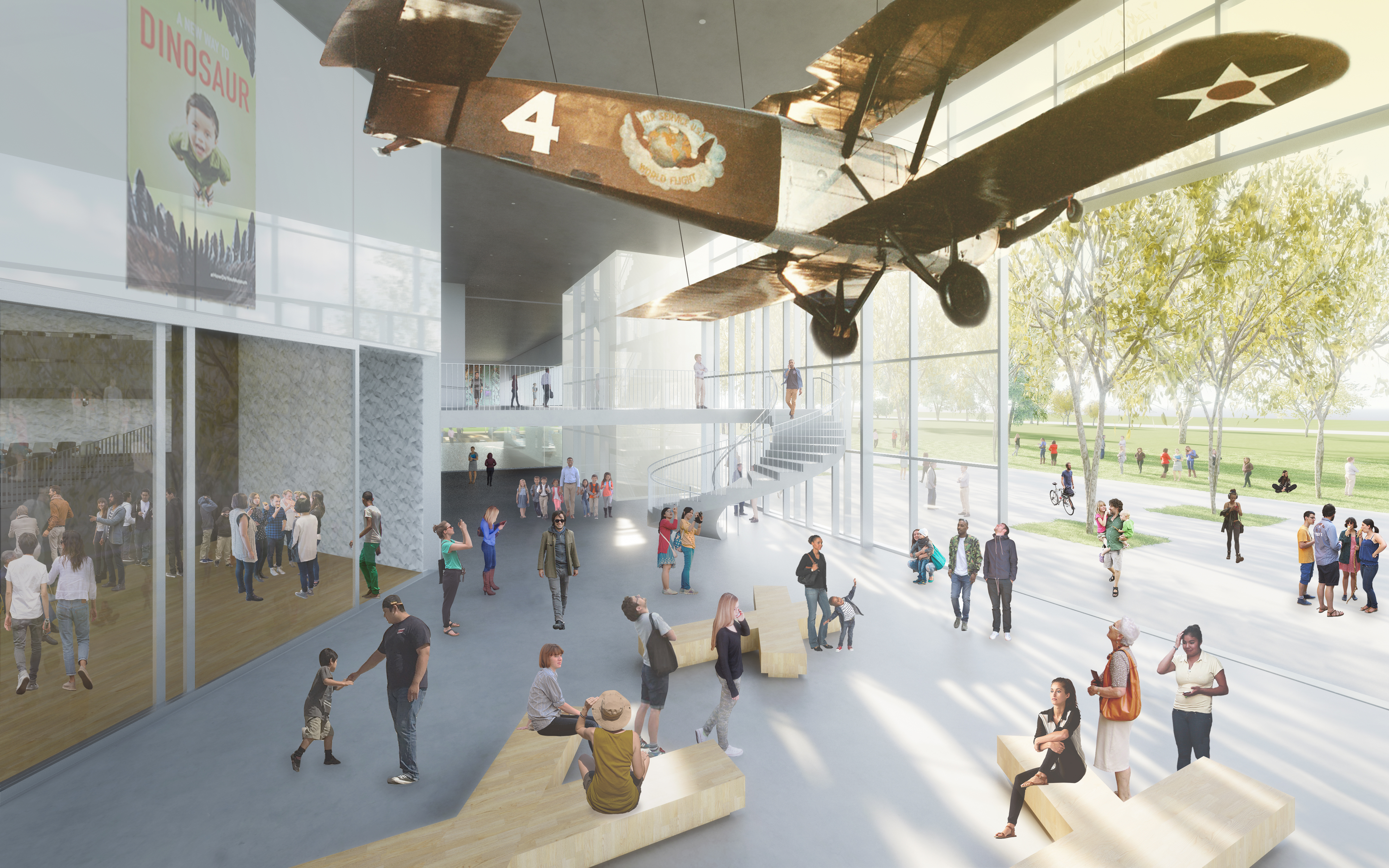 Rendering of Natural History Museum west wing