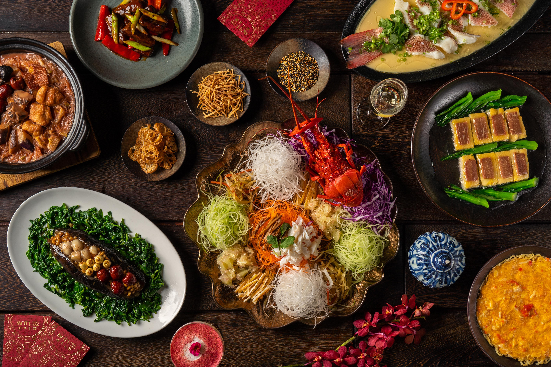 An array of Mott 32 dishes