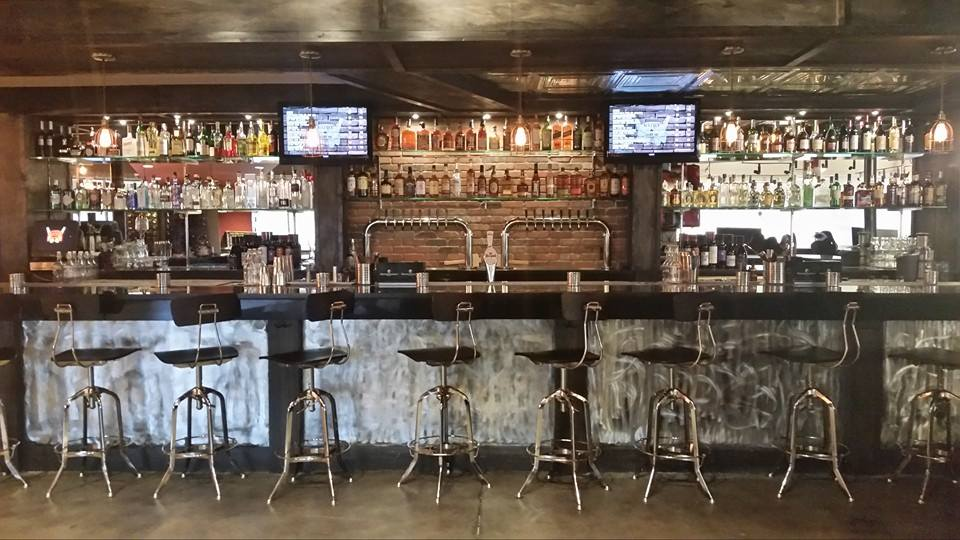 The bar at Battle & Brew