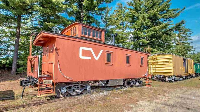 converted caboose home