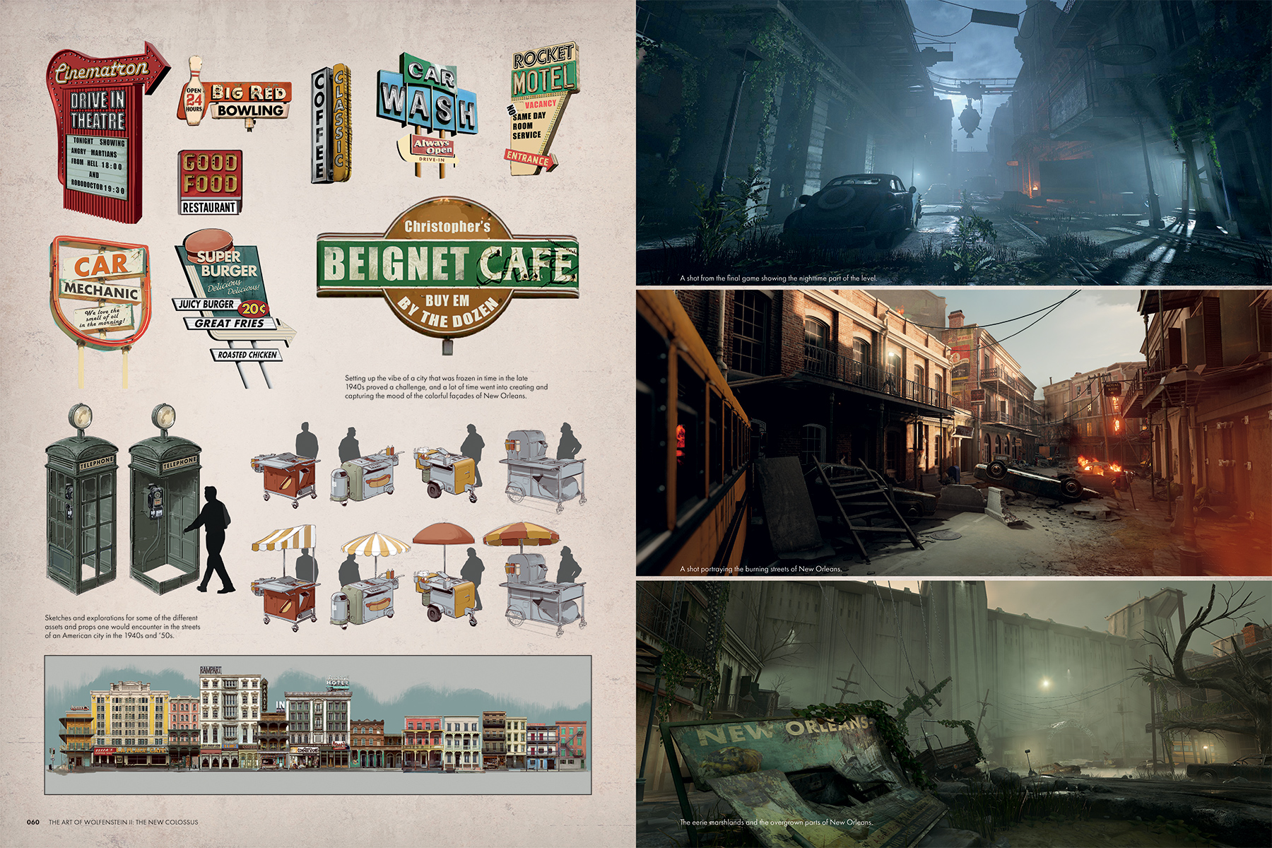 Page previews from The Art of Wolfenstein 2: The New Colossus