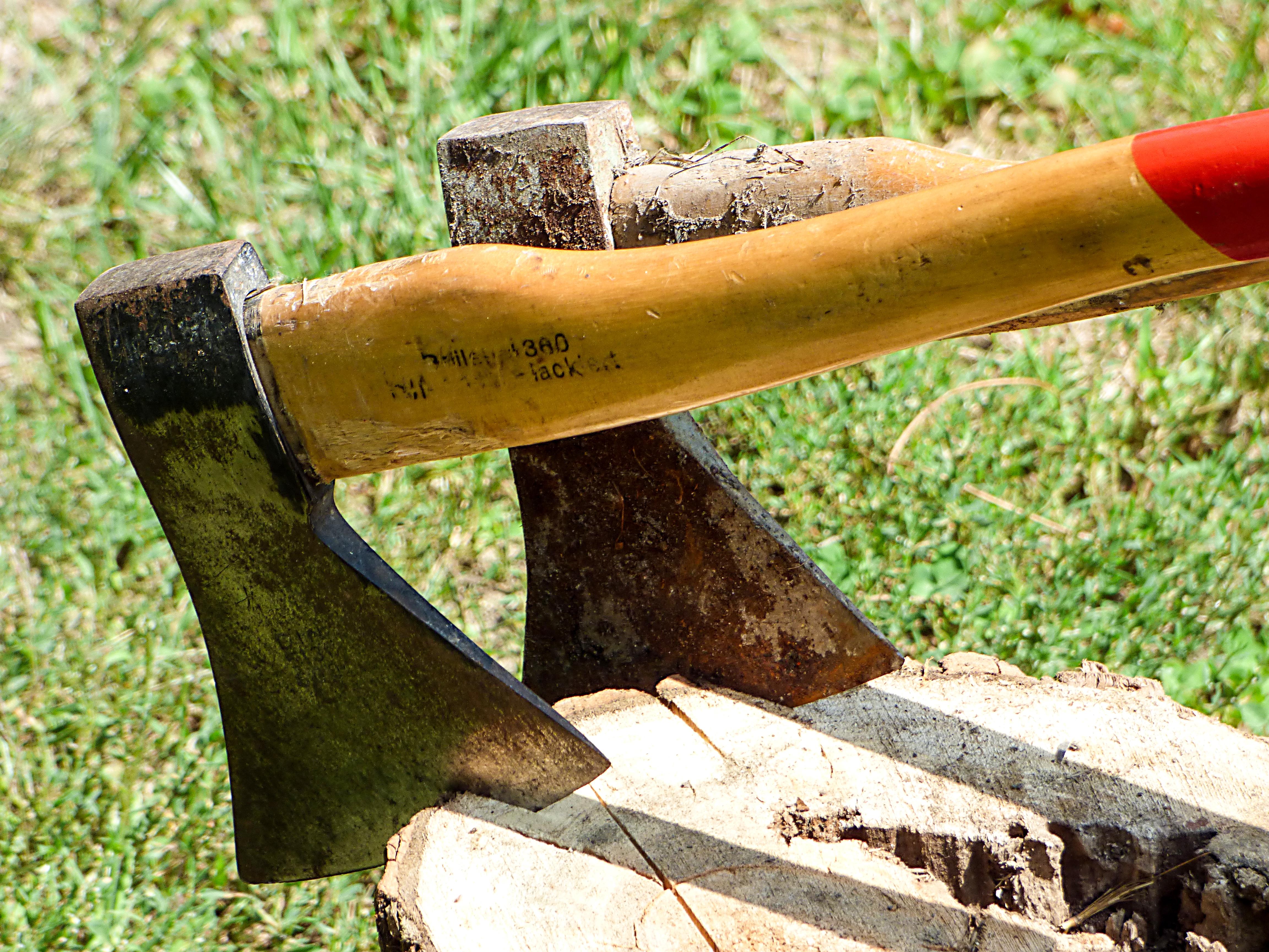 axes in wood