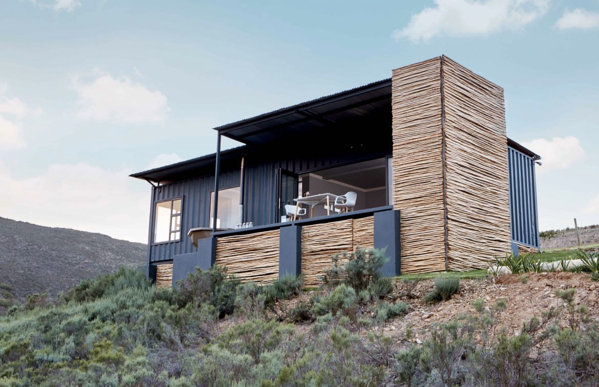 Shipping containers make sweet holiday retreat for