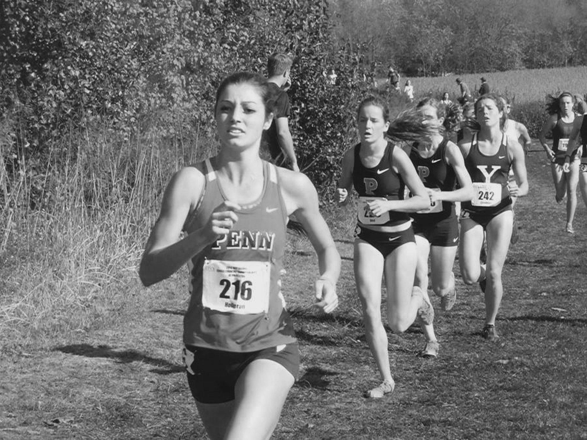 Madison Holleran running a cross country race at Penn