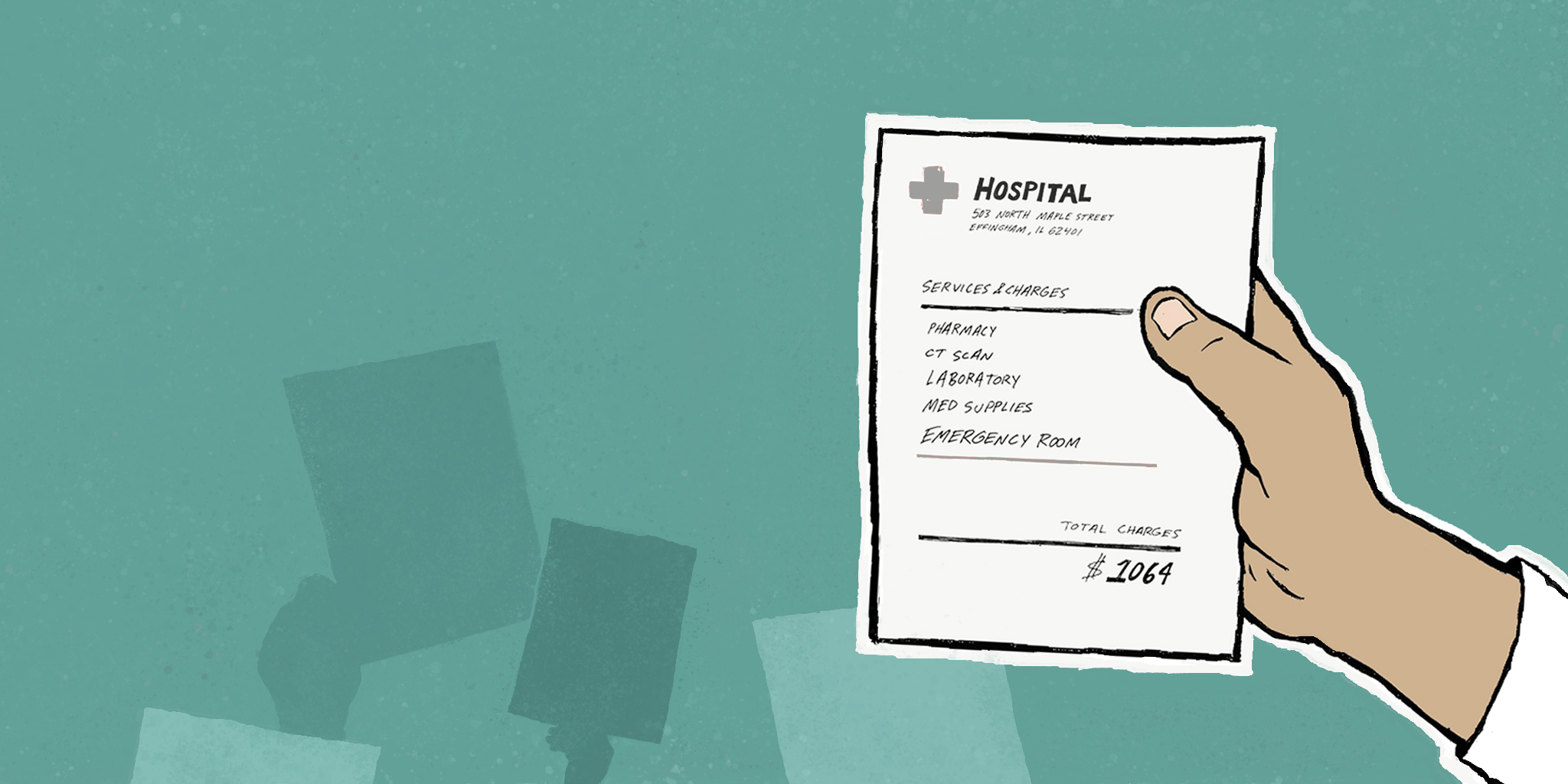 I started collecting ER bills. The American Hospital Association started warning its members.