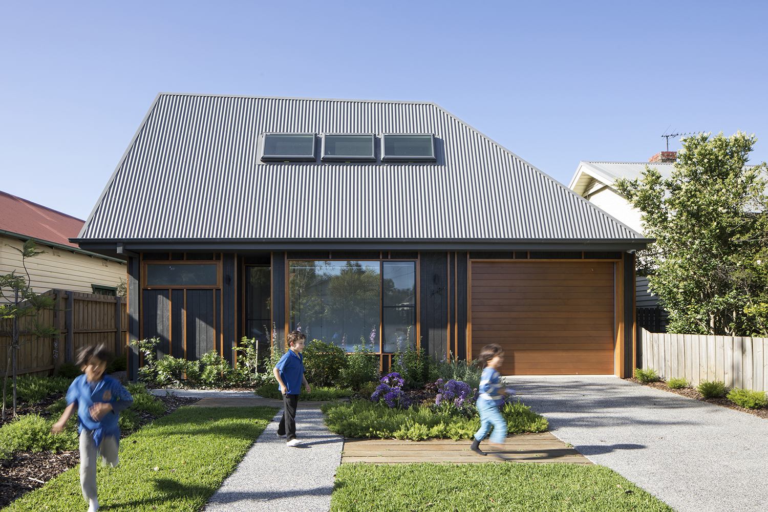 Modern home gets a high-end look with low-cost materials