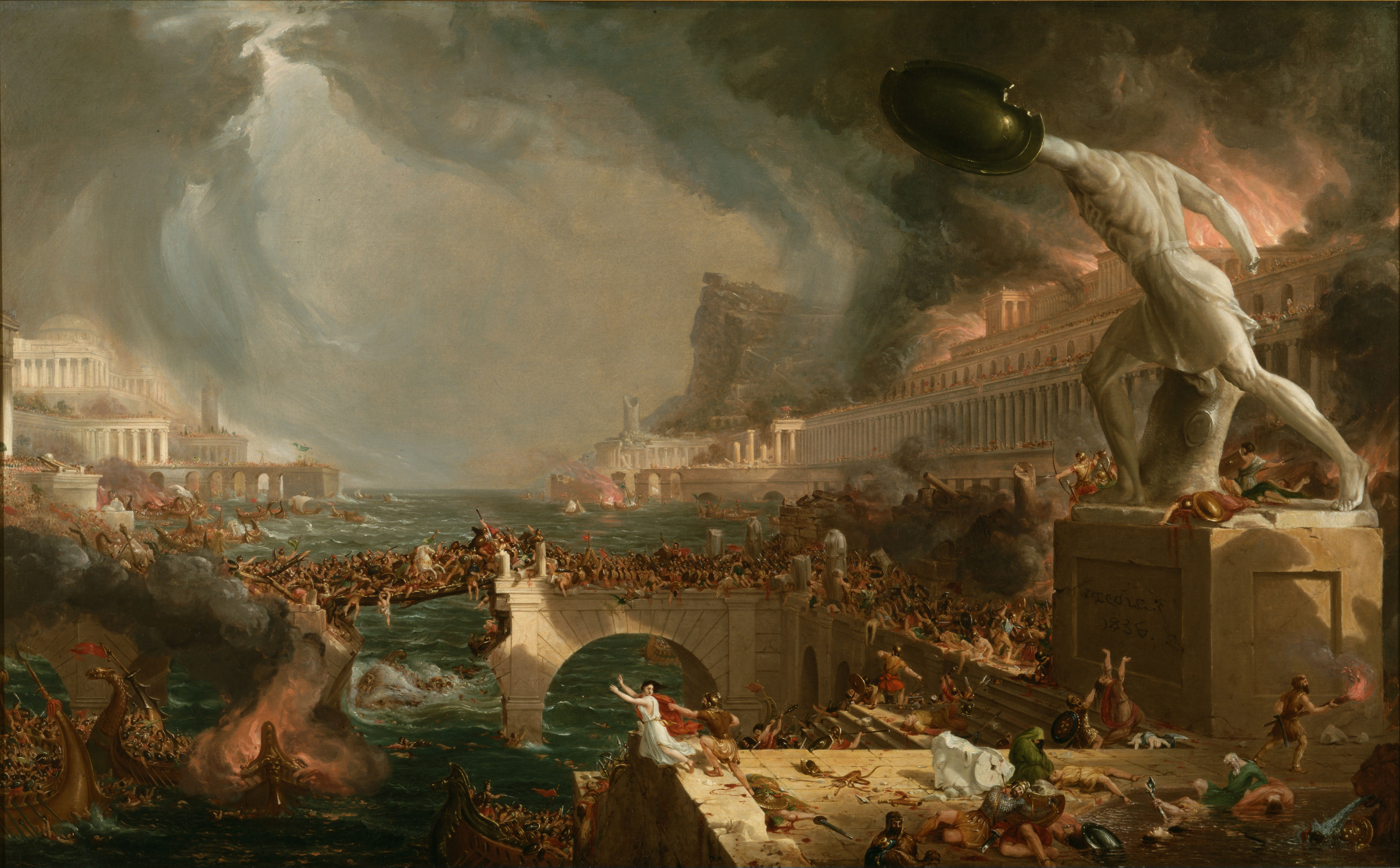 The fall of the Roman Empire - the result of relaxing success 16