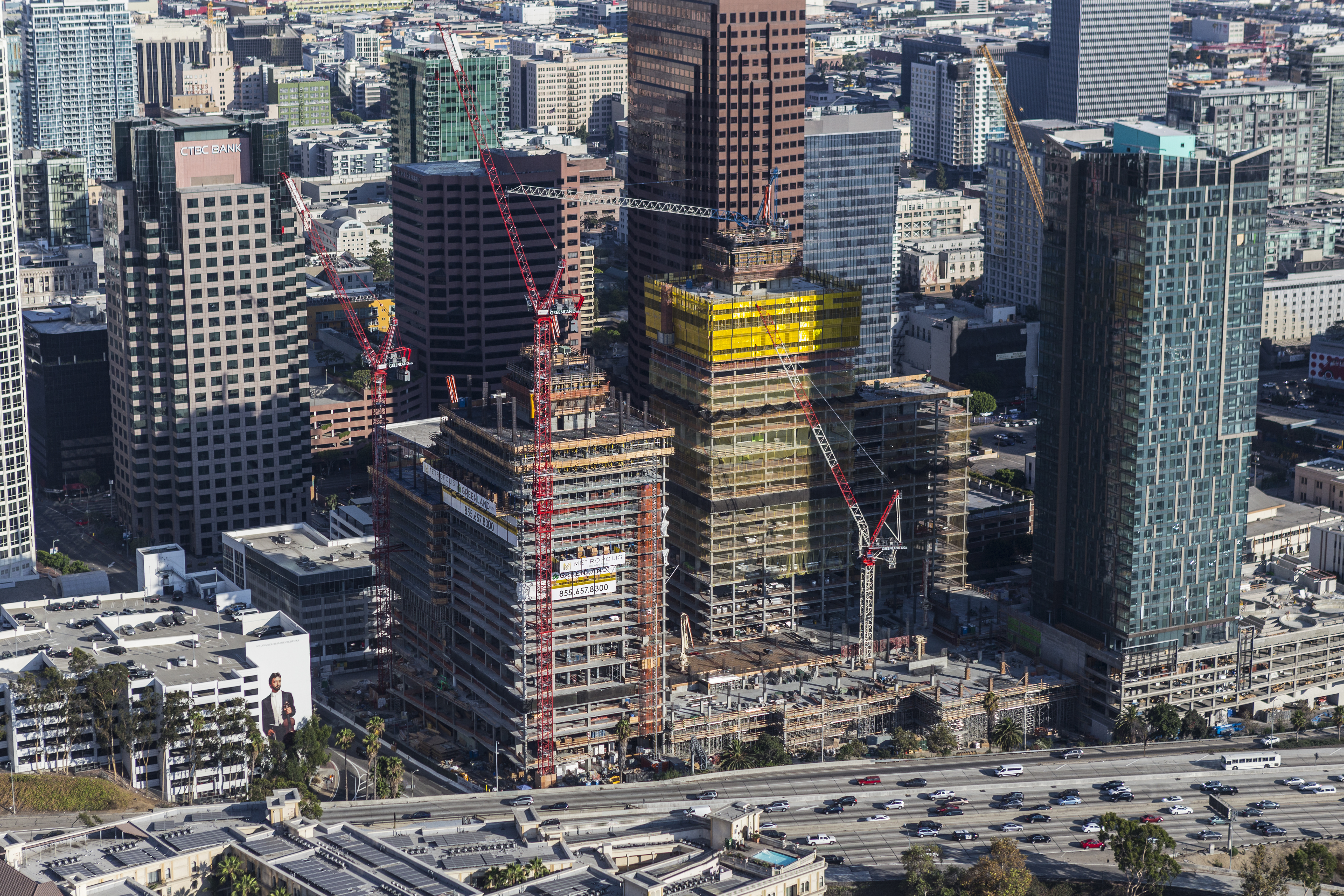 Aerial view of Metropolis construction