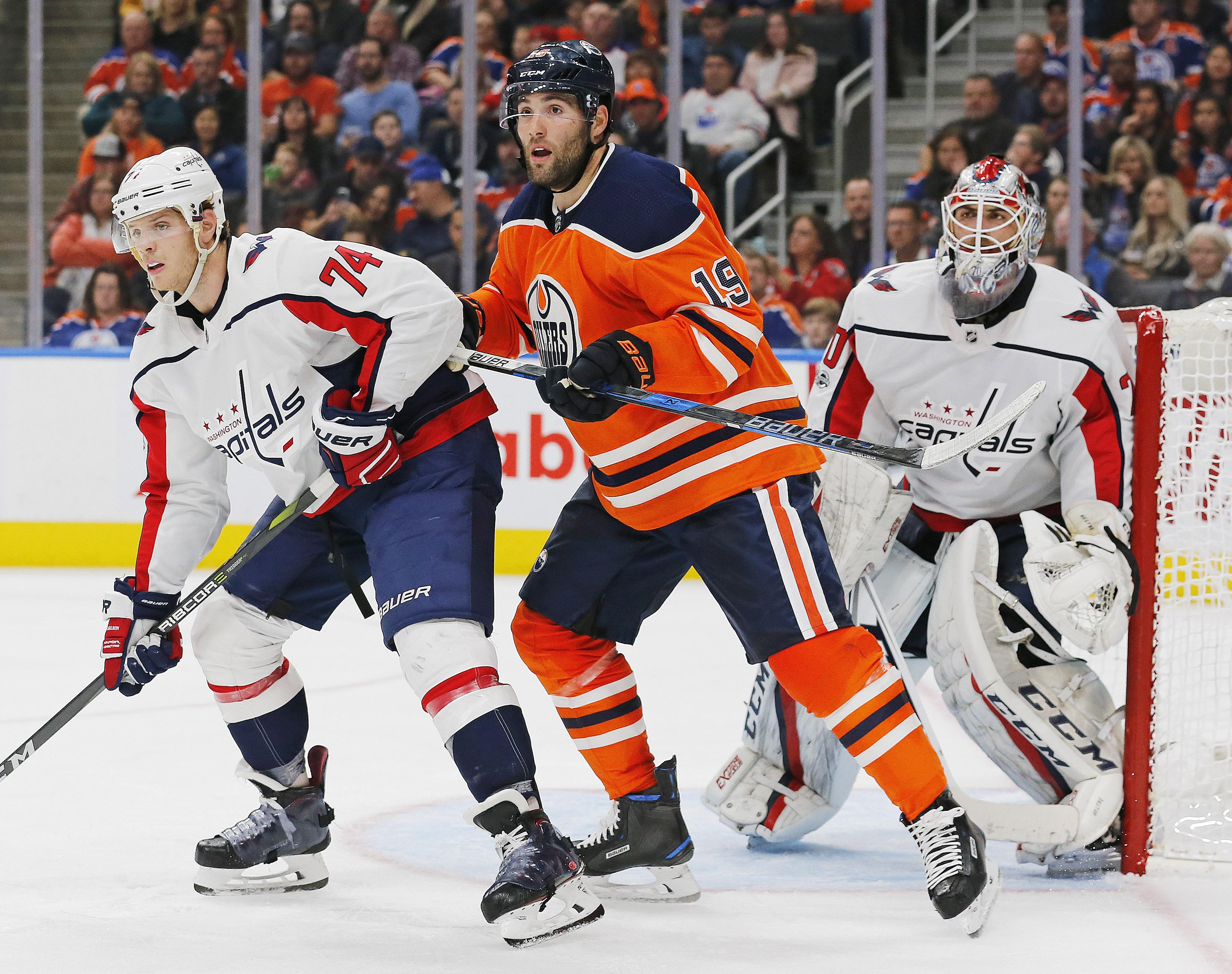 NHL: Washington Capitals at Edmonton Oilers