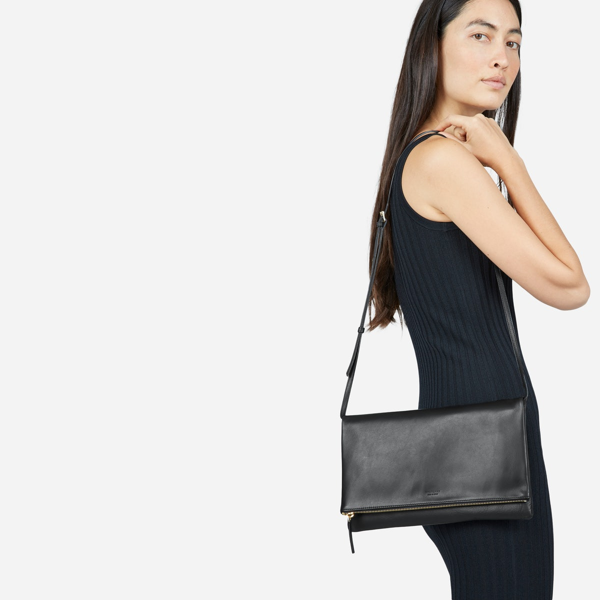 A black purse