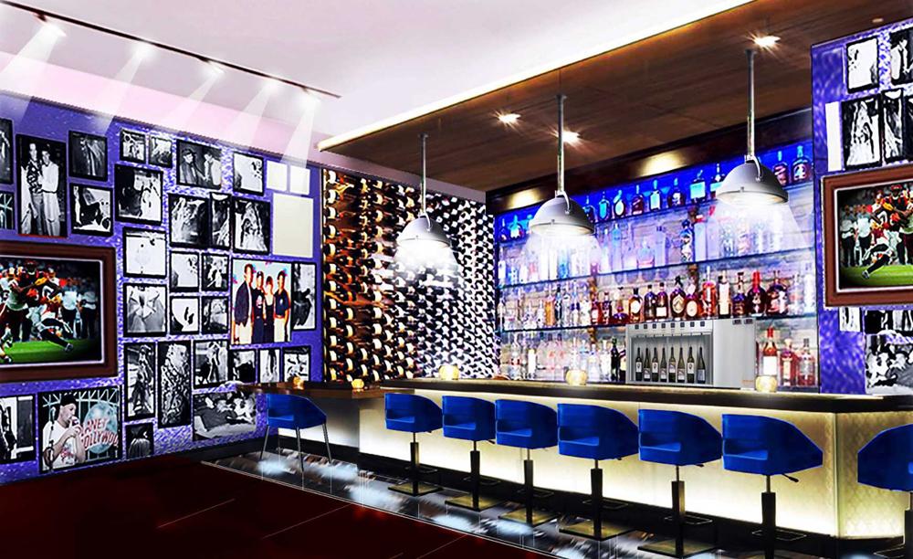 Cafe Hollywood bar rendering