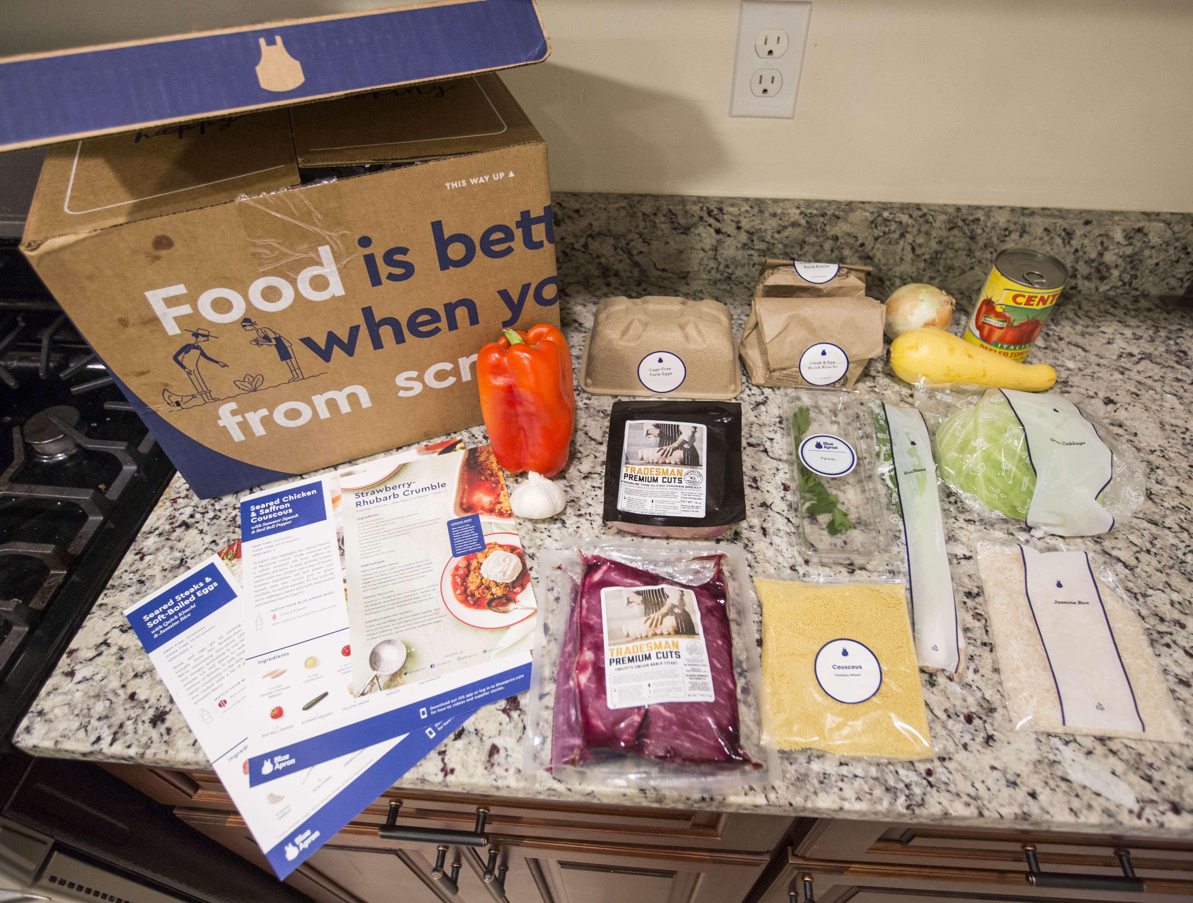 Blue Apron still dominates the market for meal delivery kits