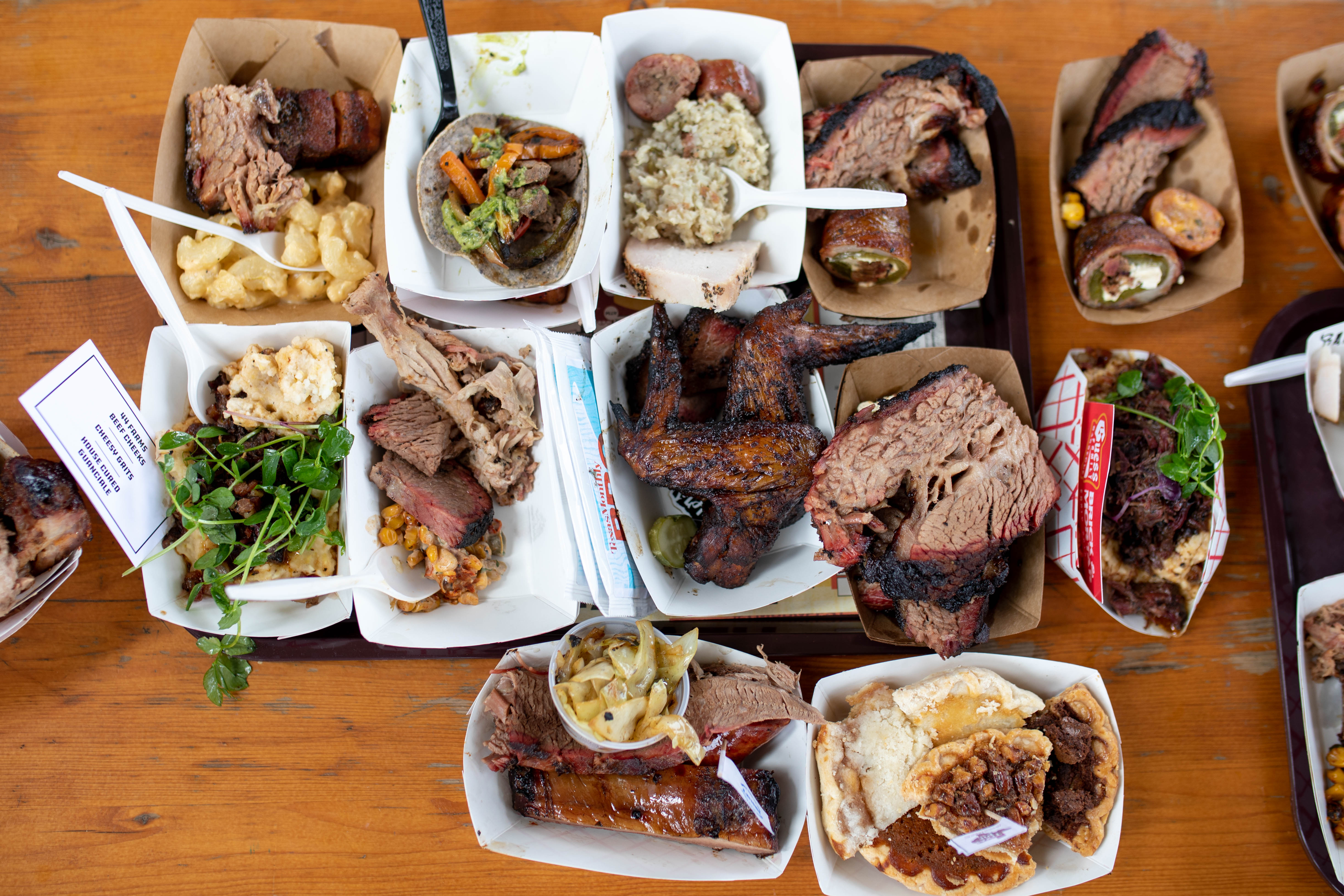 Barbecue from the Texas Monthly BBQ Fest in 2018