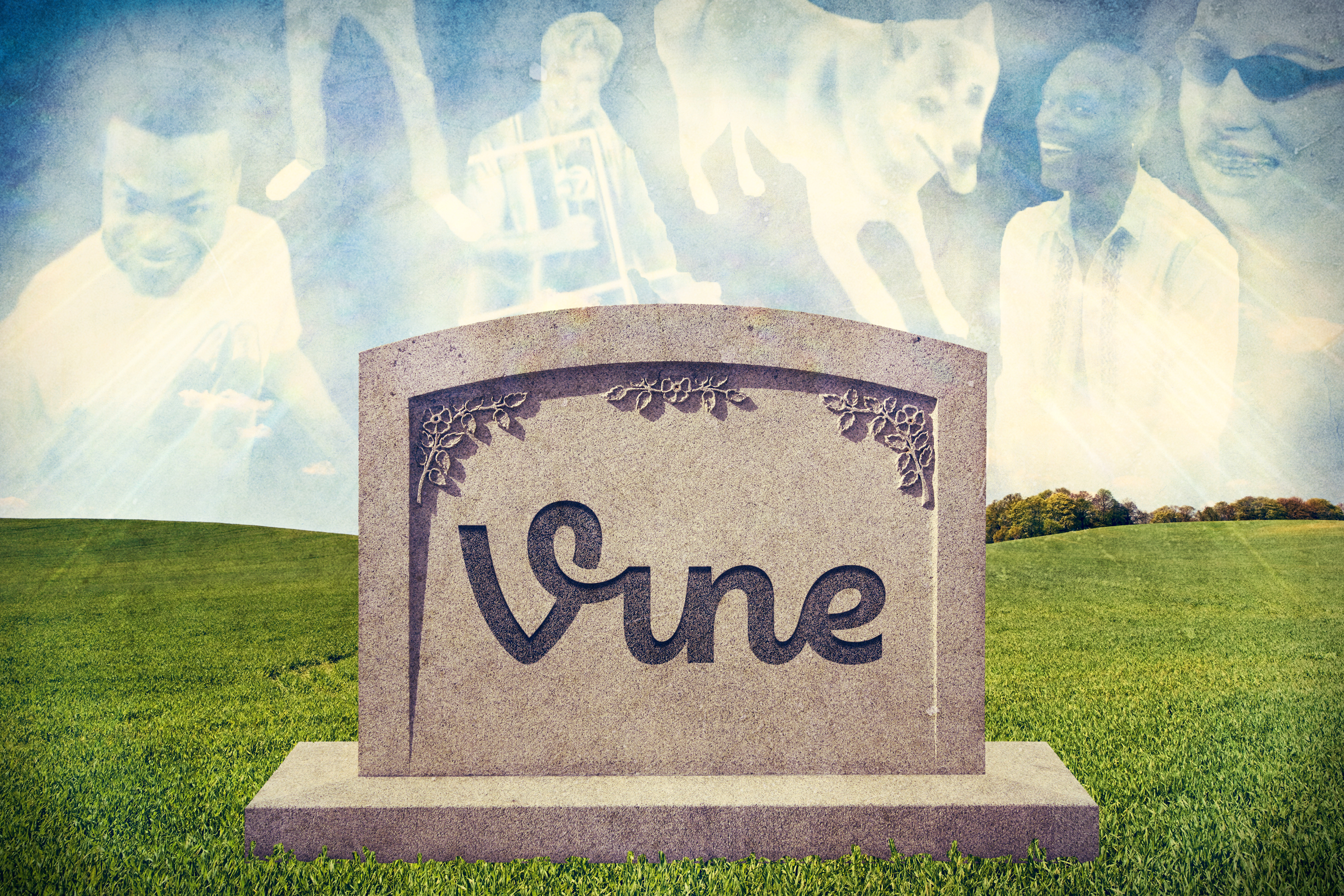Photo illustration about the one-year anniversary of the end of Vine