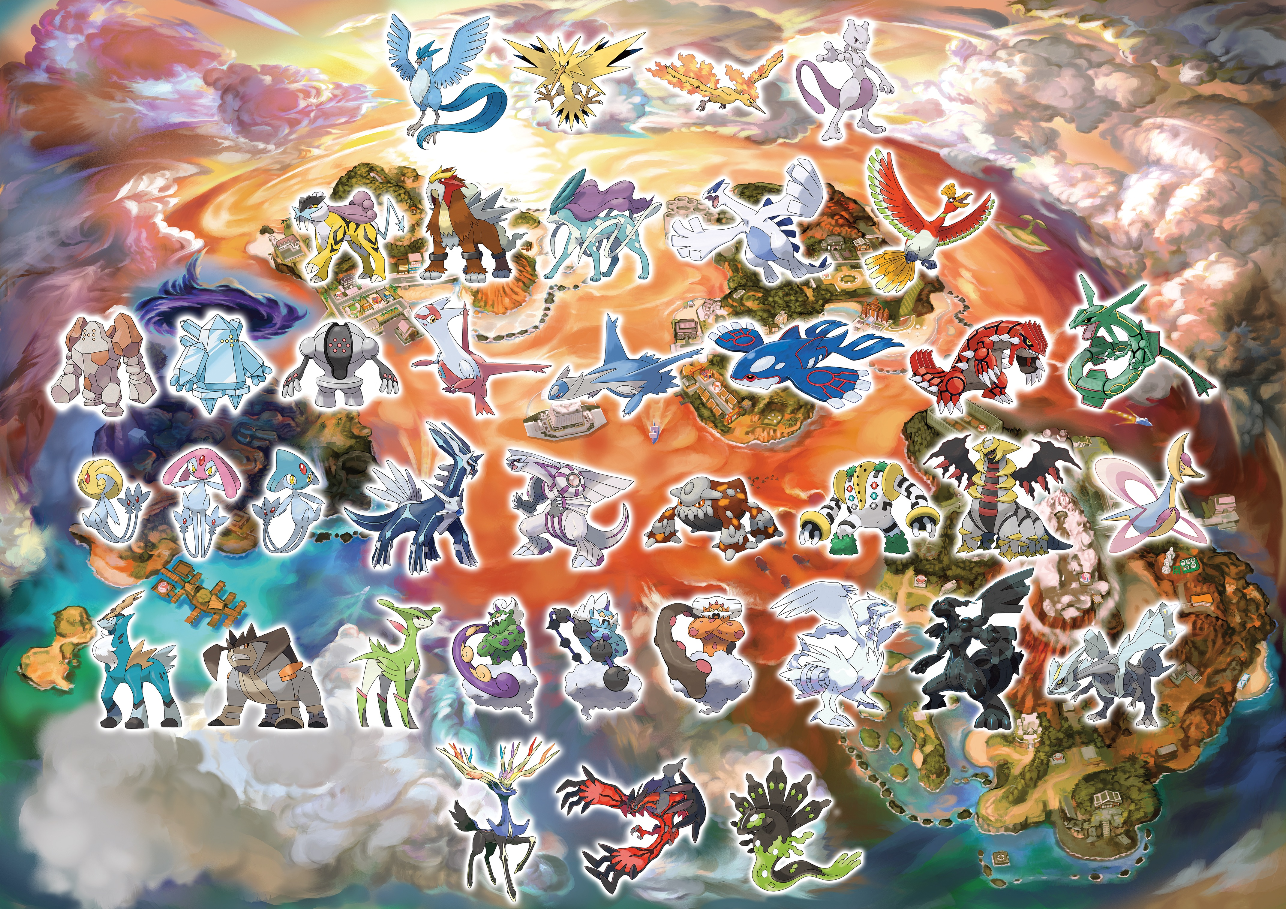 Pokemon Wallpaper Legendary Sun And Moon