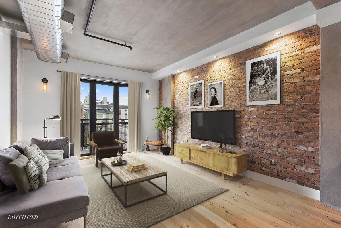 For $984K, an industrial-chic Williamsburg condo with a private terrace