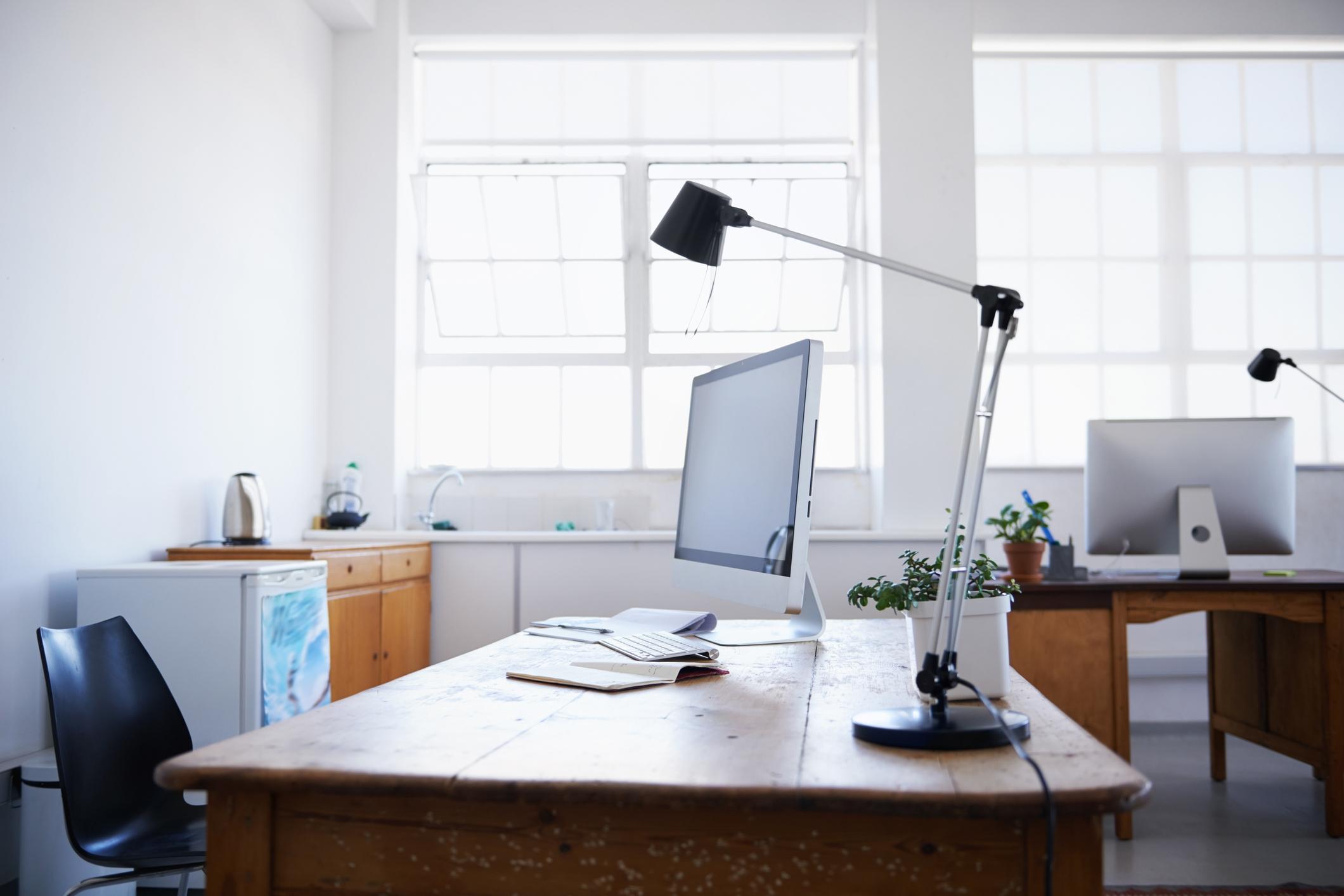 A home office desk