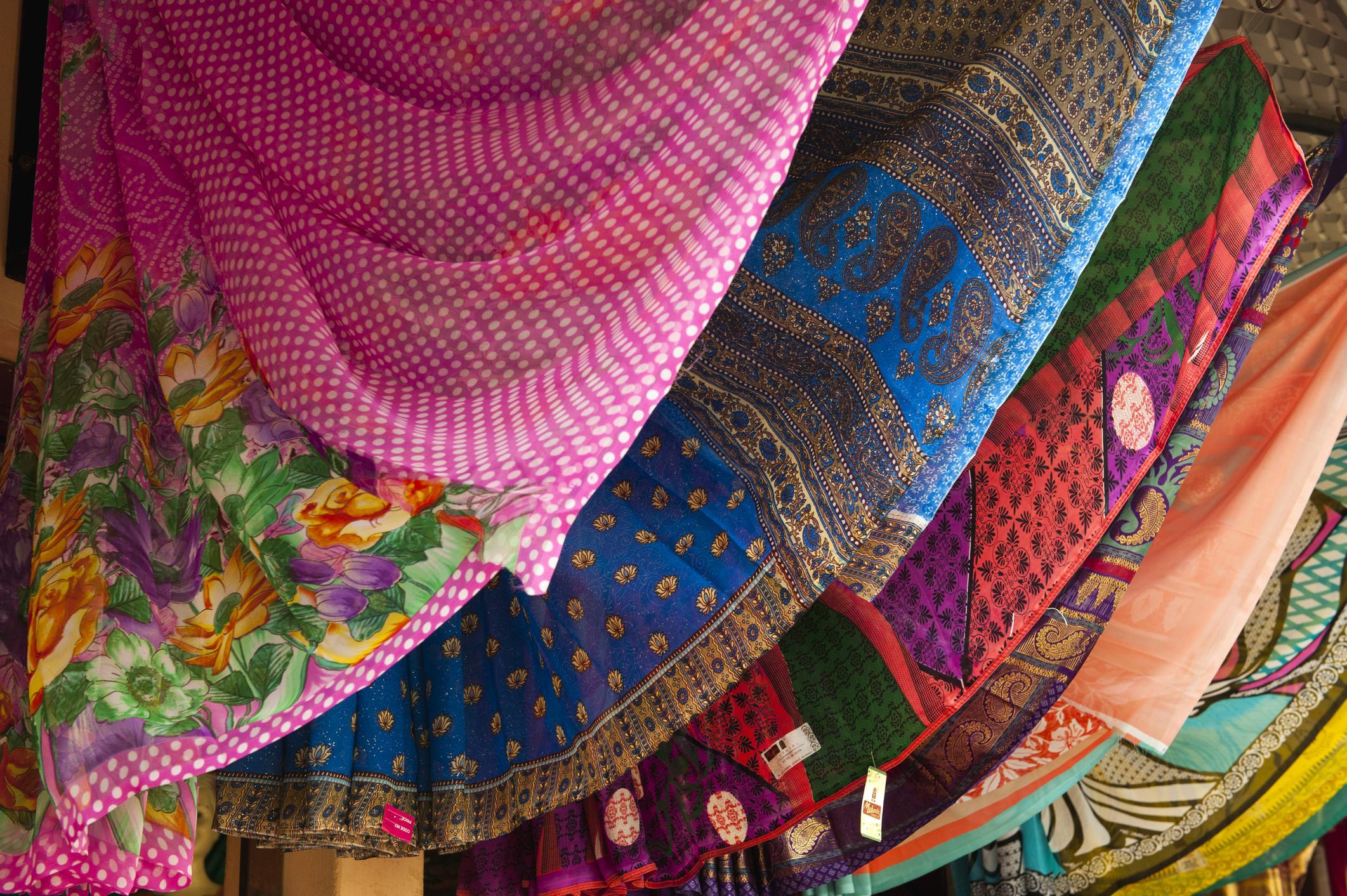A row of saris