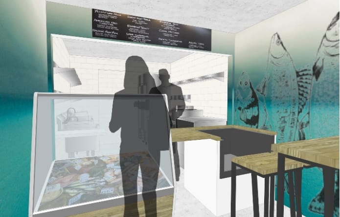 Hooked Fish Shop rendering