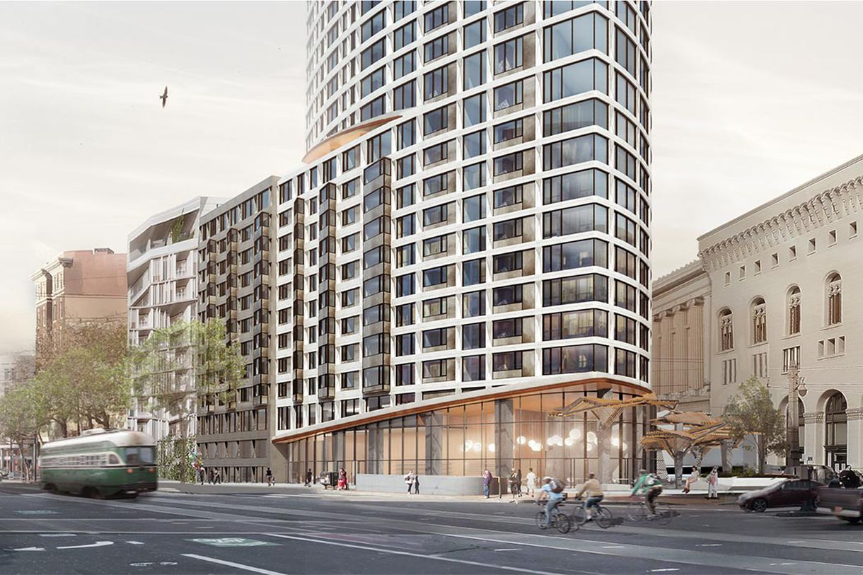 A rendering of the One Oak building on Van Ness.