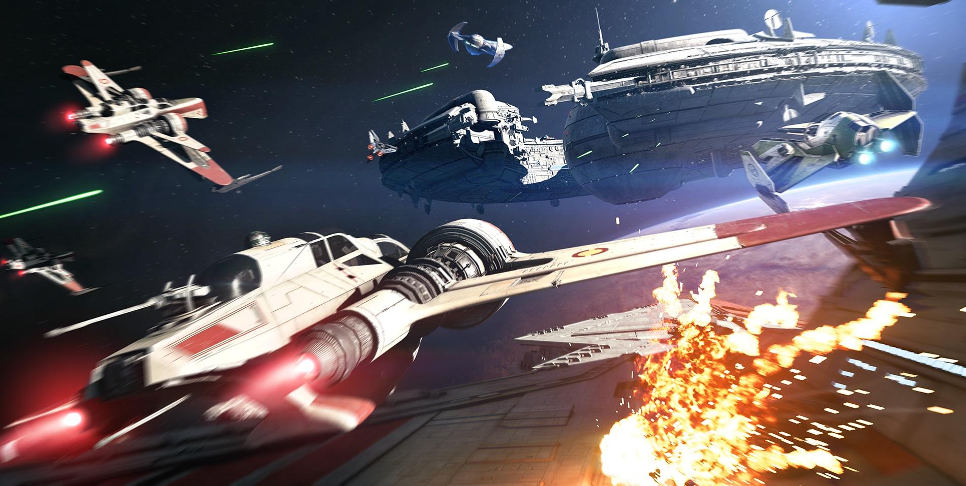 Star Wars Battlefront 2 - starfighter combat