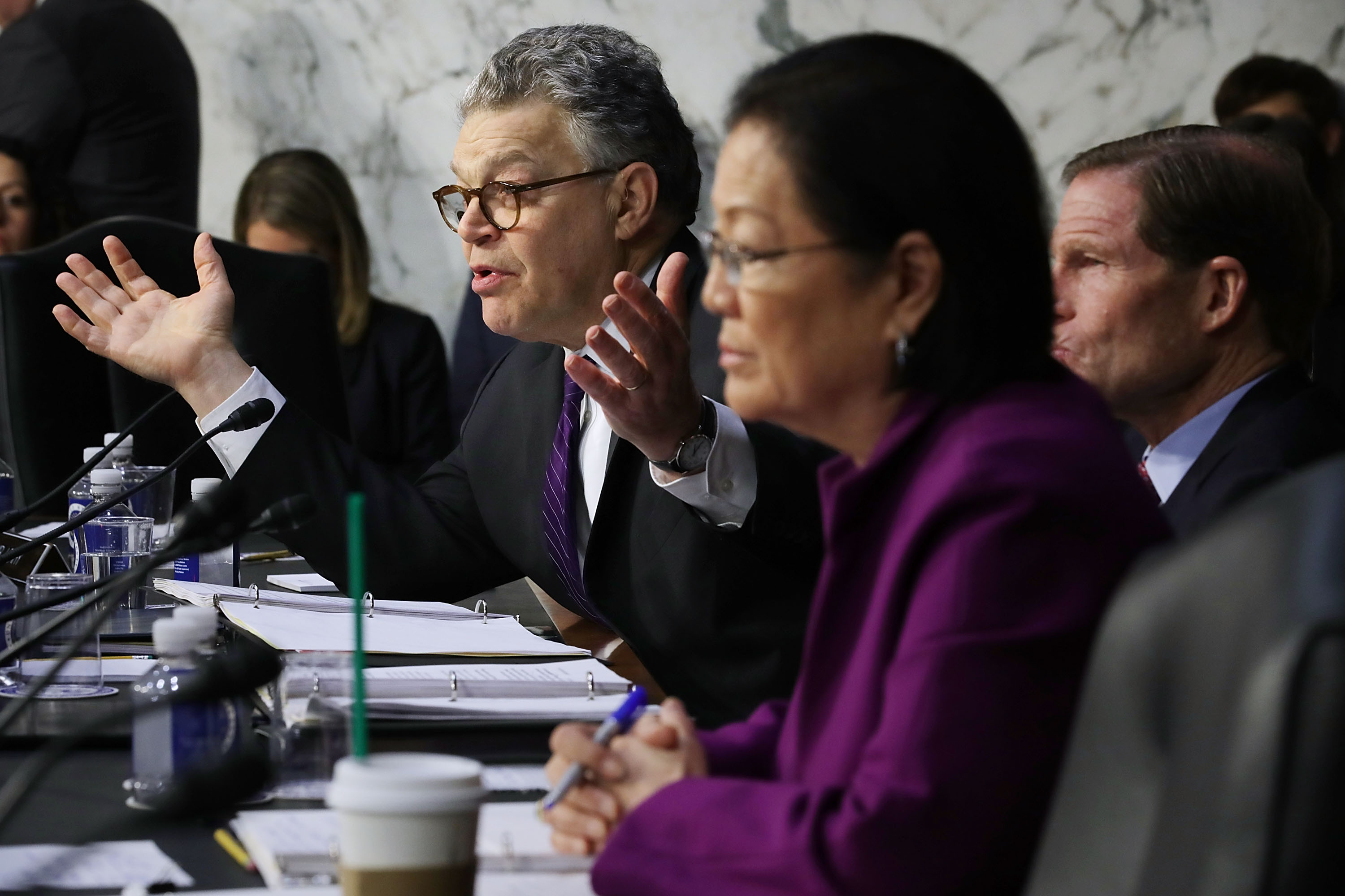 Sen  Al Franken torched Amazon, Facebook and Google for abusing