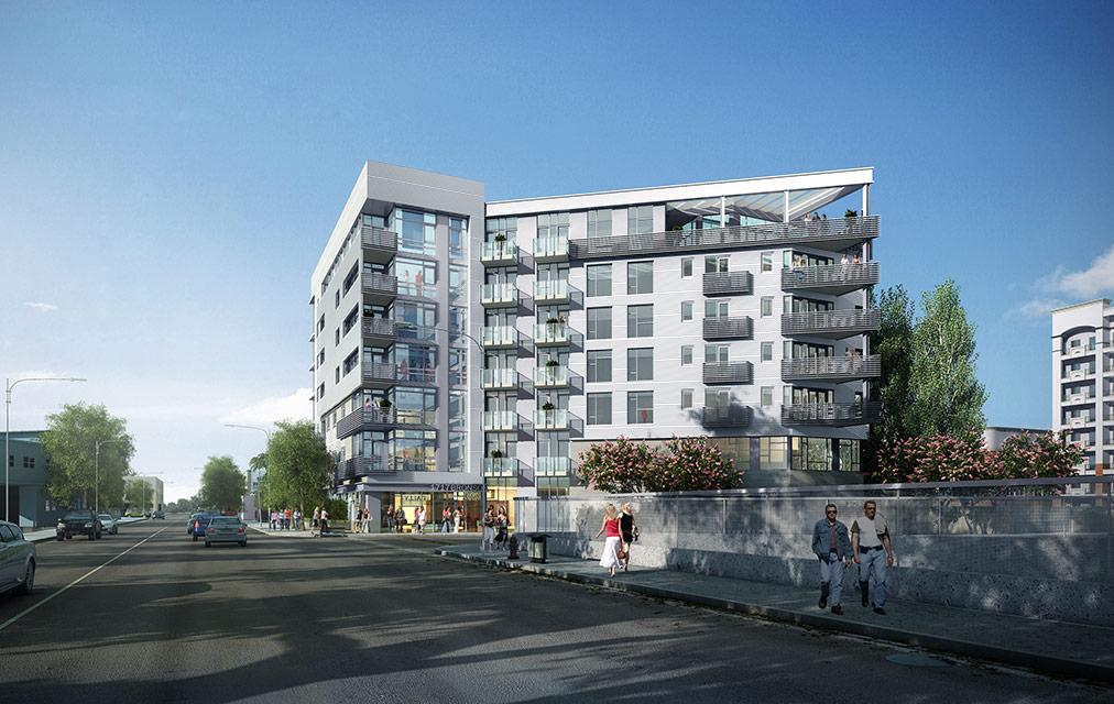 Rendering of Lombardi apartments