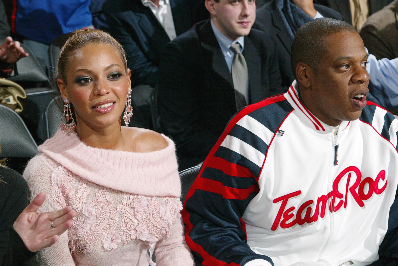Celebs At Knicks v Rockets Game