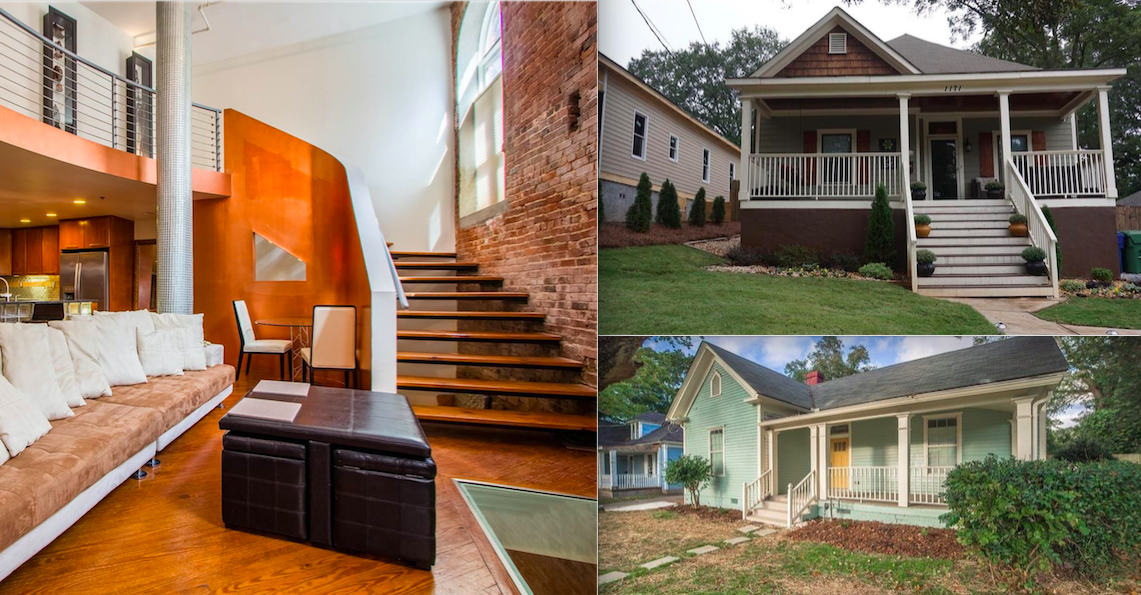 A variety of homes for sale, in photos, west of downtown Atlanta right now.