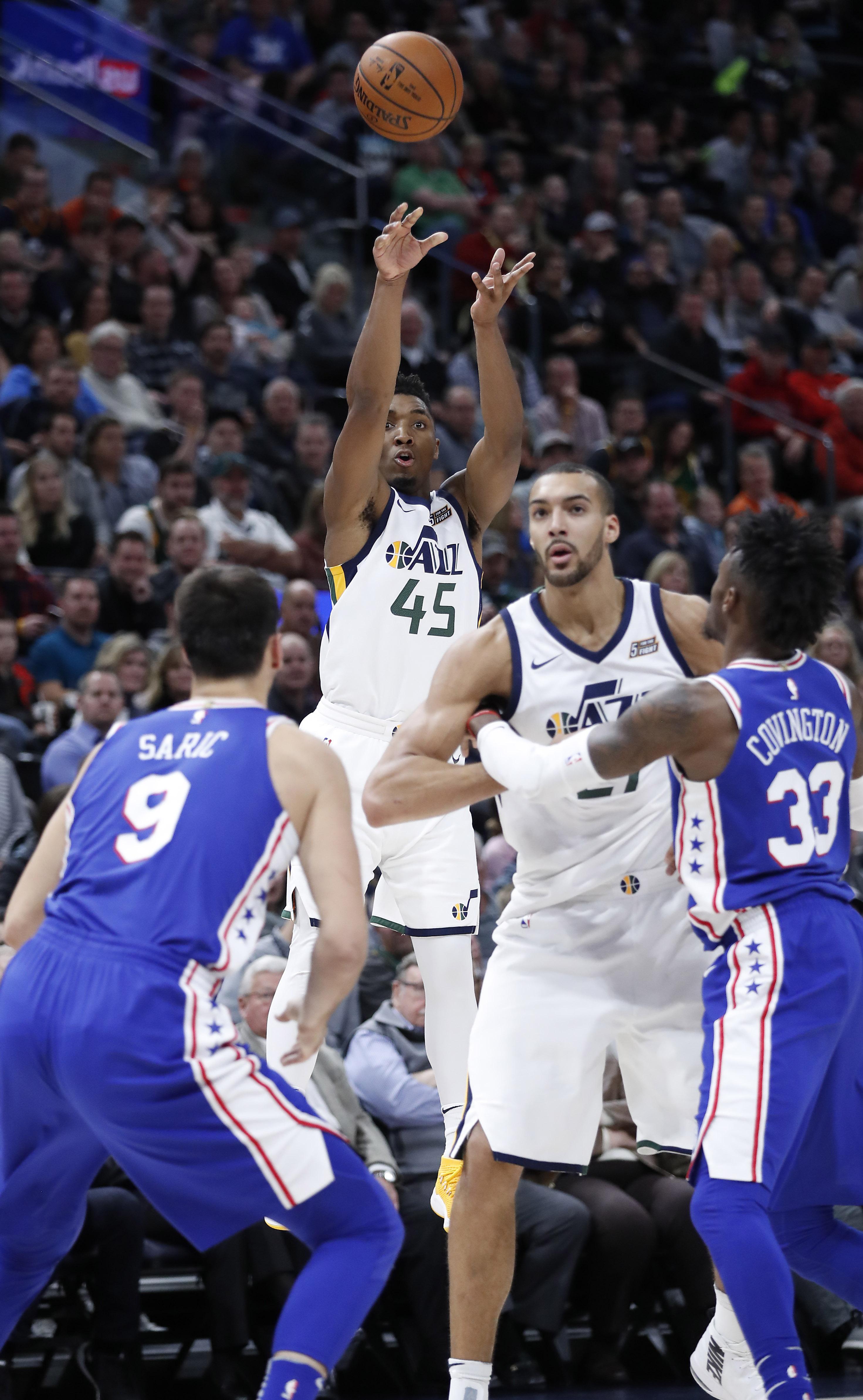 NBA: Philadelphia 76ers at Utah Jazz