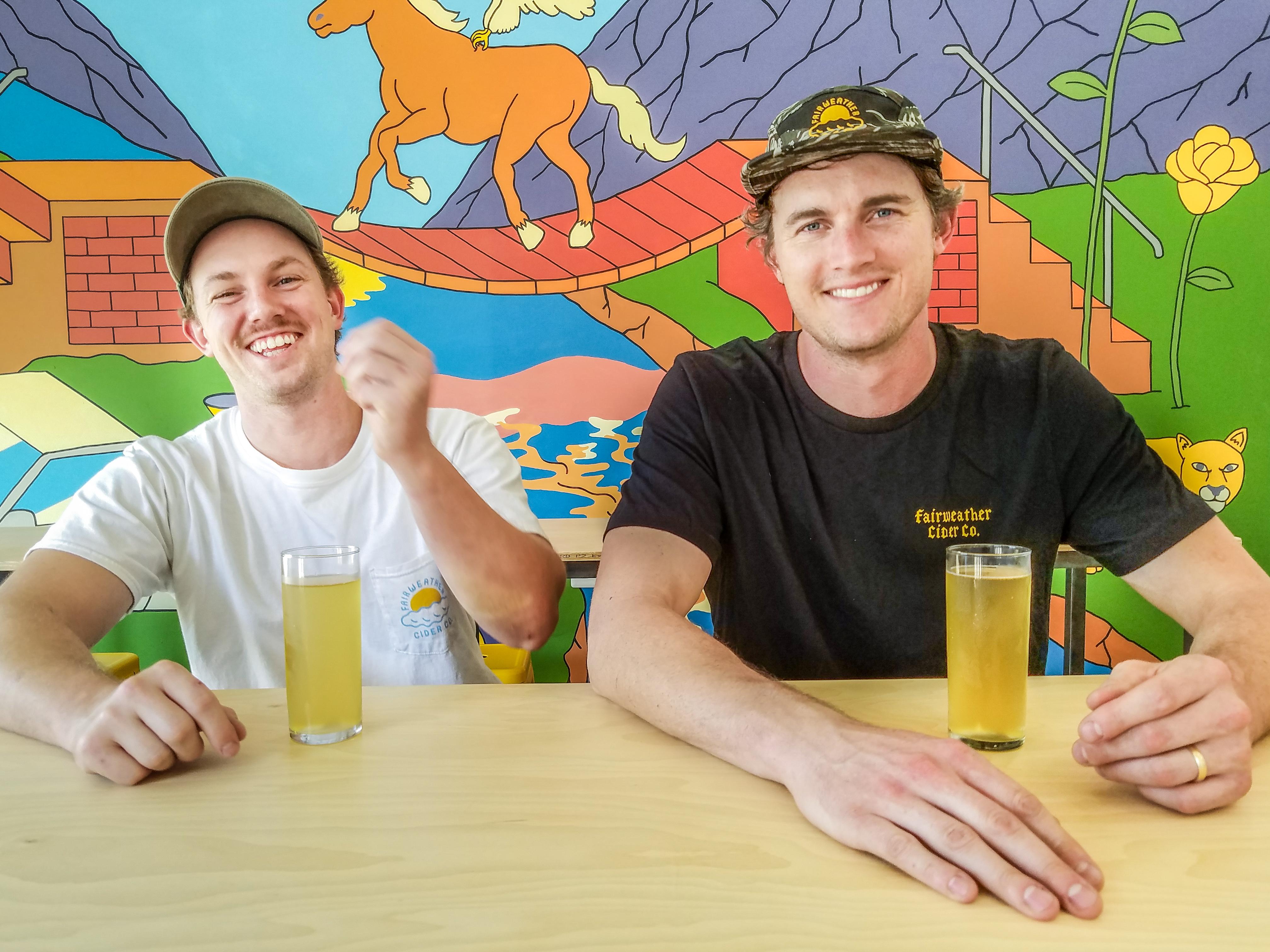 Michael Gostomski White and John Staples at Fairweather Cider Co.