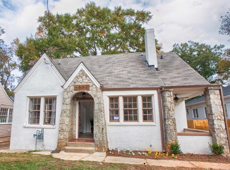 A photo showing a renovated bungalow in the Westview area of Atlanta.