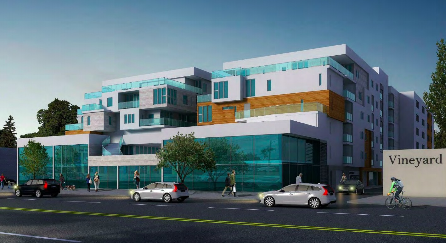 Rendering of mixed use Reseda project