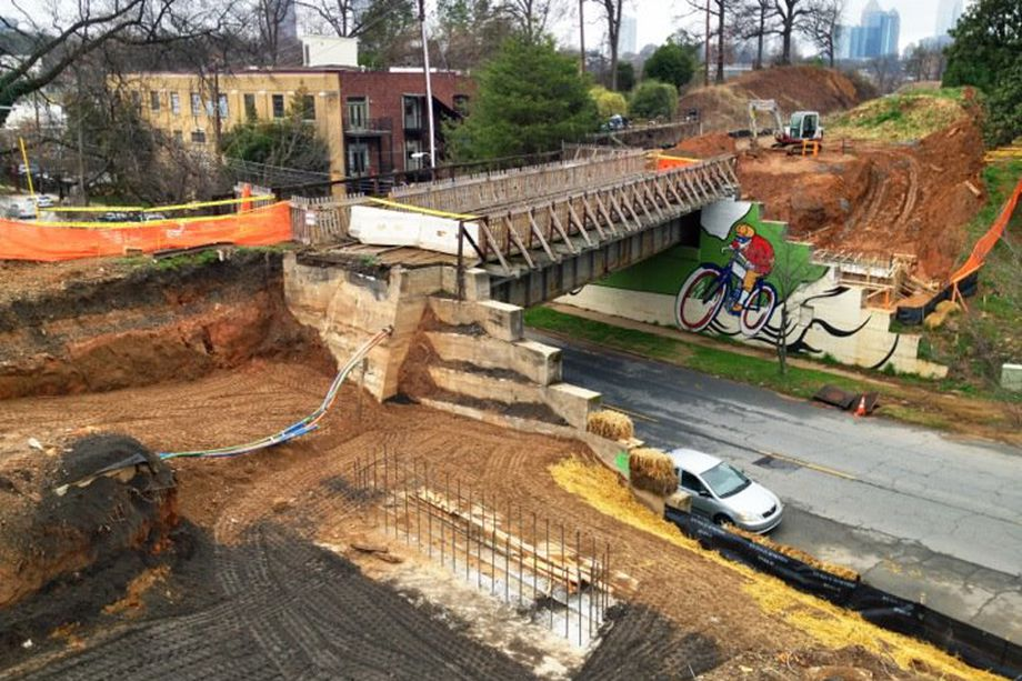 """The Beltline, as seen in 2012, is hailed as a conduit for urban vibrancy and, as one GSU professor puts its, the possible cause of """"racial resegregation of the city."""""""