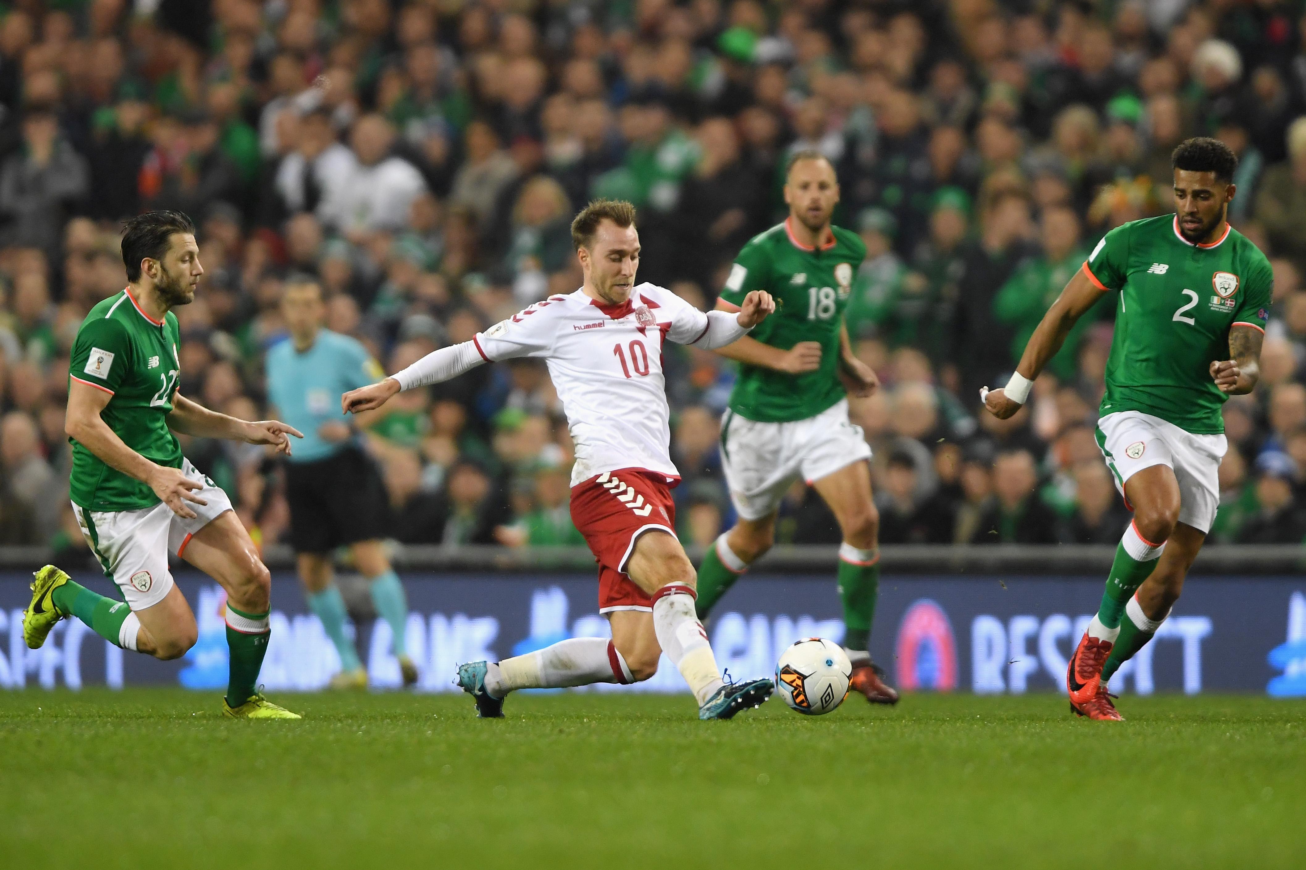 4b6291ea8ef Christian Eriksen hat trick sends Denmark to World Cup