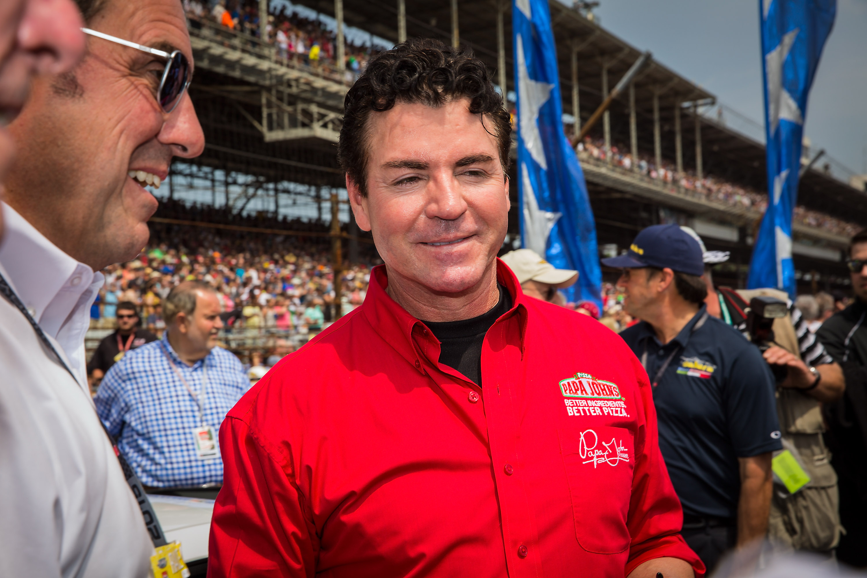 INDIANAPOLIS, IN - MAY 24: Papa John's founder and CEO John Schnatter attends the Indy 500 on May 23, 2015 in Indianapolis, Indiana. (Photo by Michael Hickey/Getty Images)