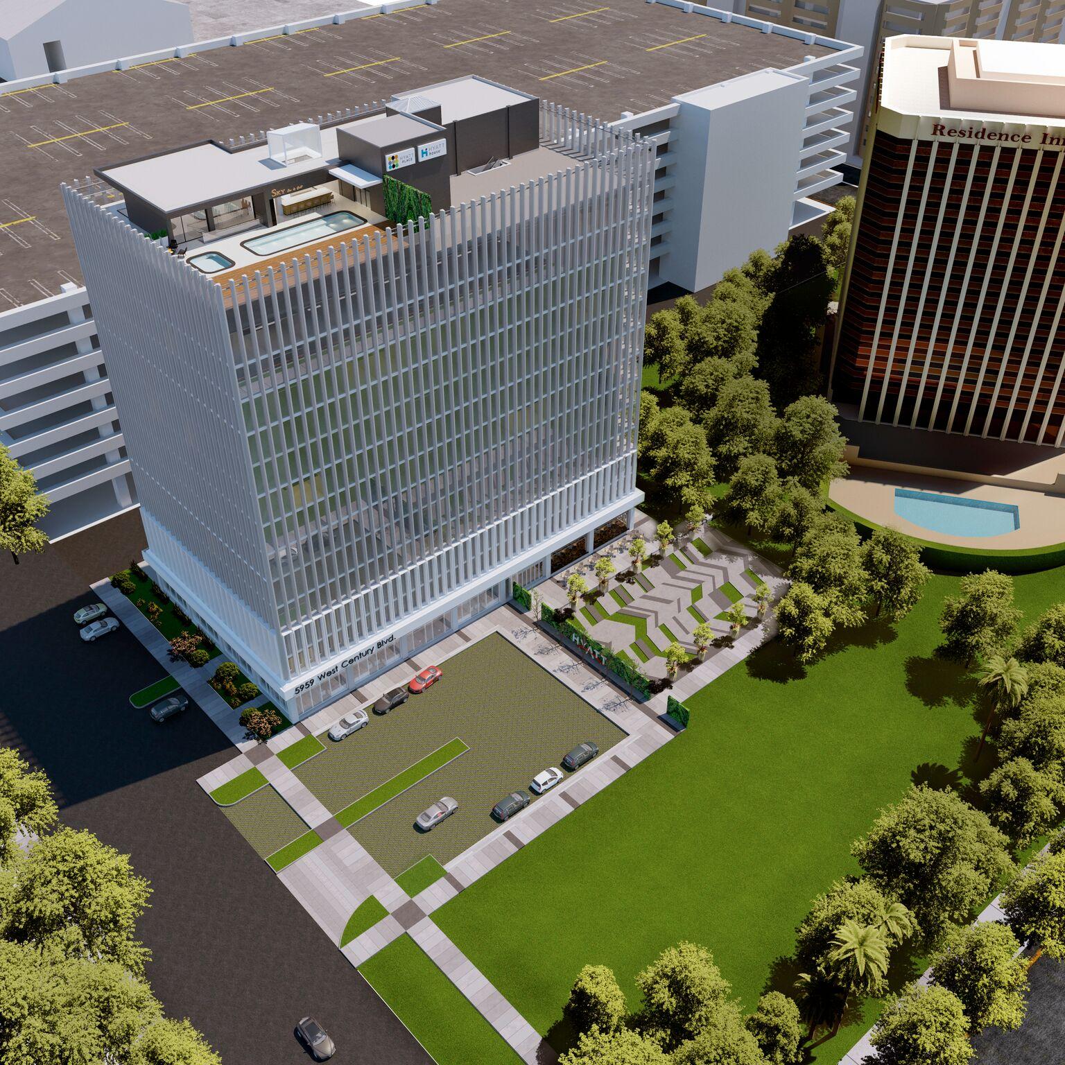 Rendering of Hyatt LAX project