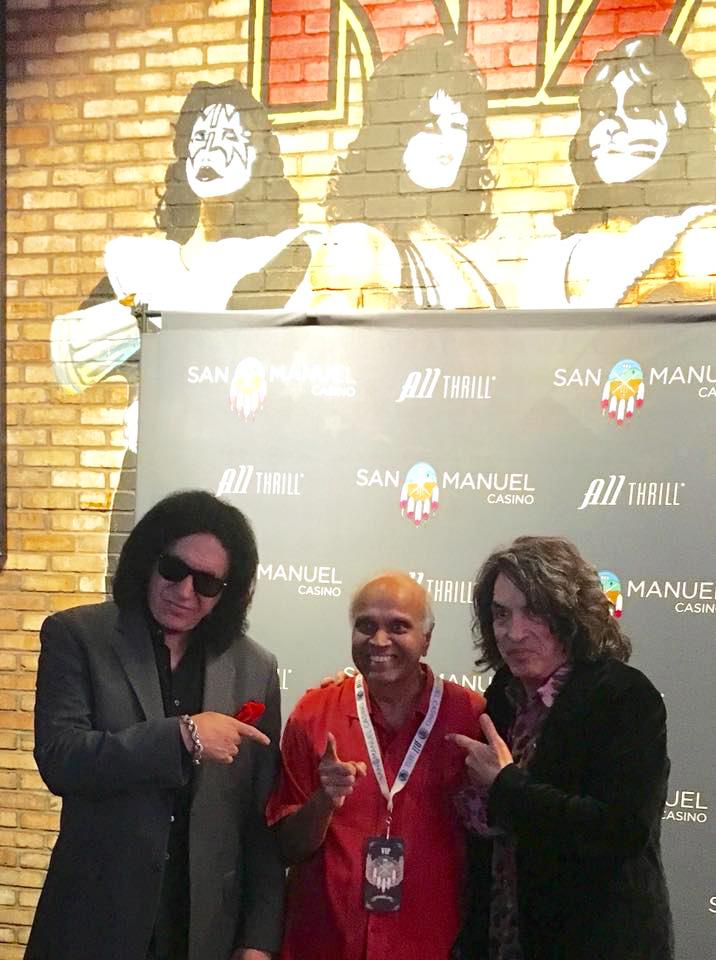 Gene Simmons, Rohit Joshi and Paul Stanley