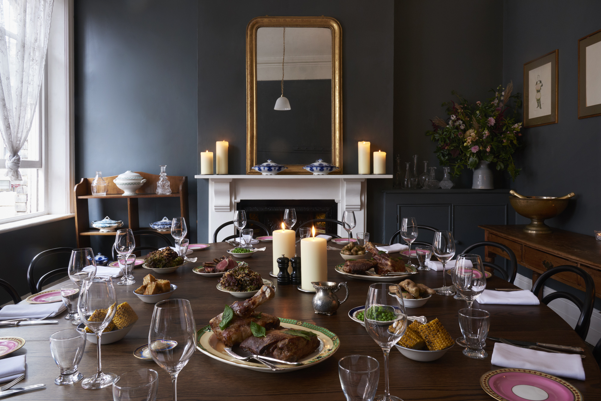 Private dining room for a Christmas Party at Quality Chop House