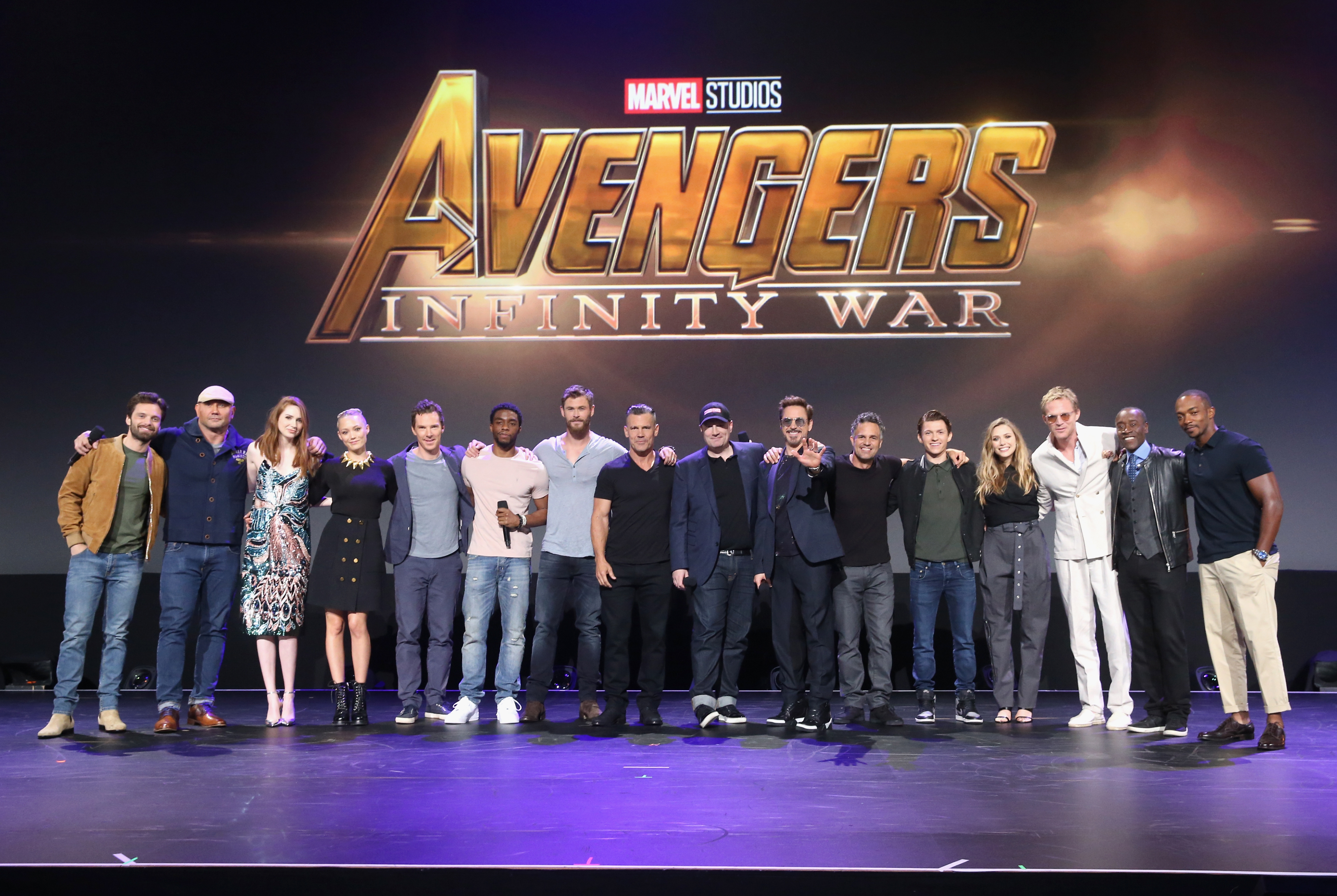 The cast of 'Avengers: Infinity War'
