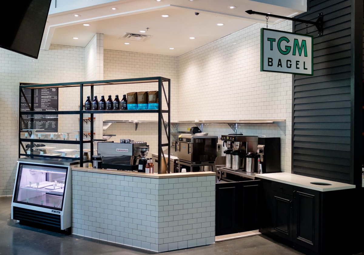 TGM Bagel stall inside The Canteen.