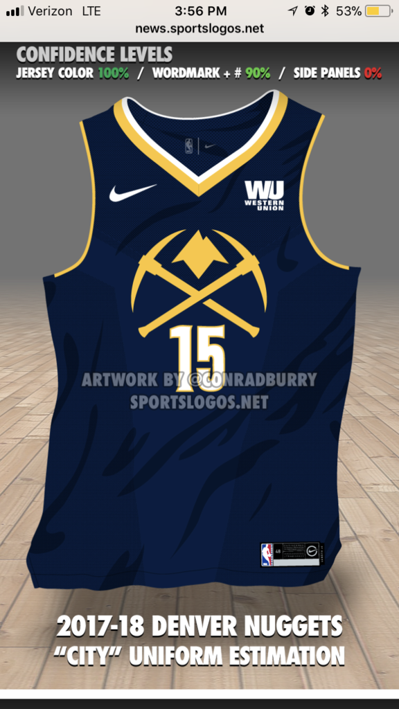 "Denver Nuggets new Nike ""City Edition"" jerseys leaked  497f81317"