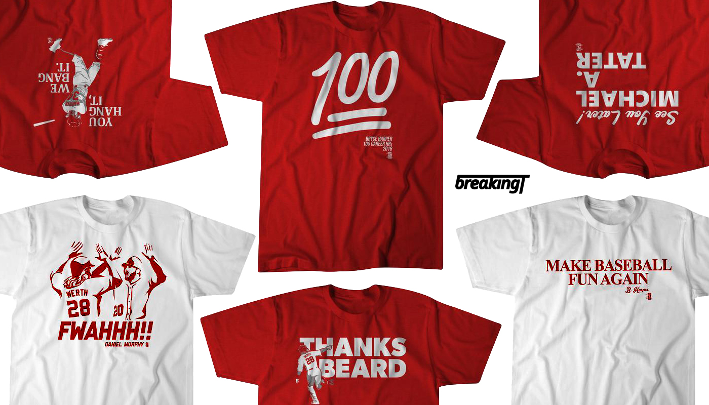 Breaking T Nationals Themed T Shirts Federal Baseball