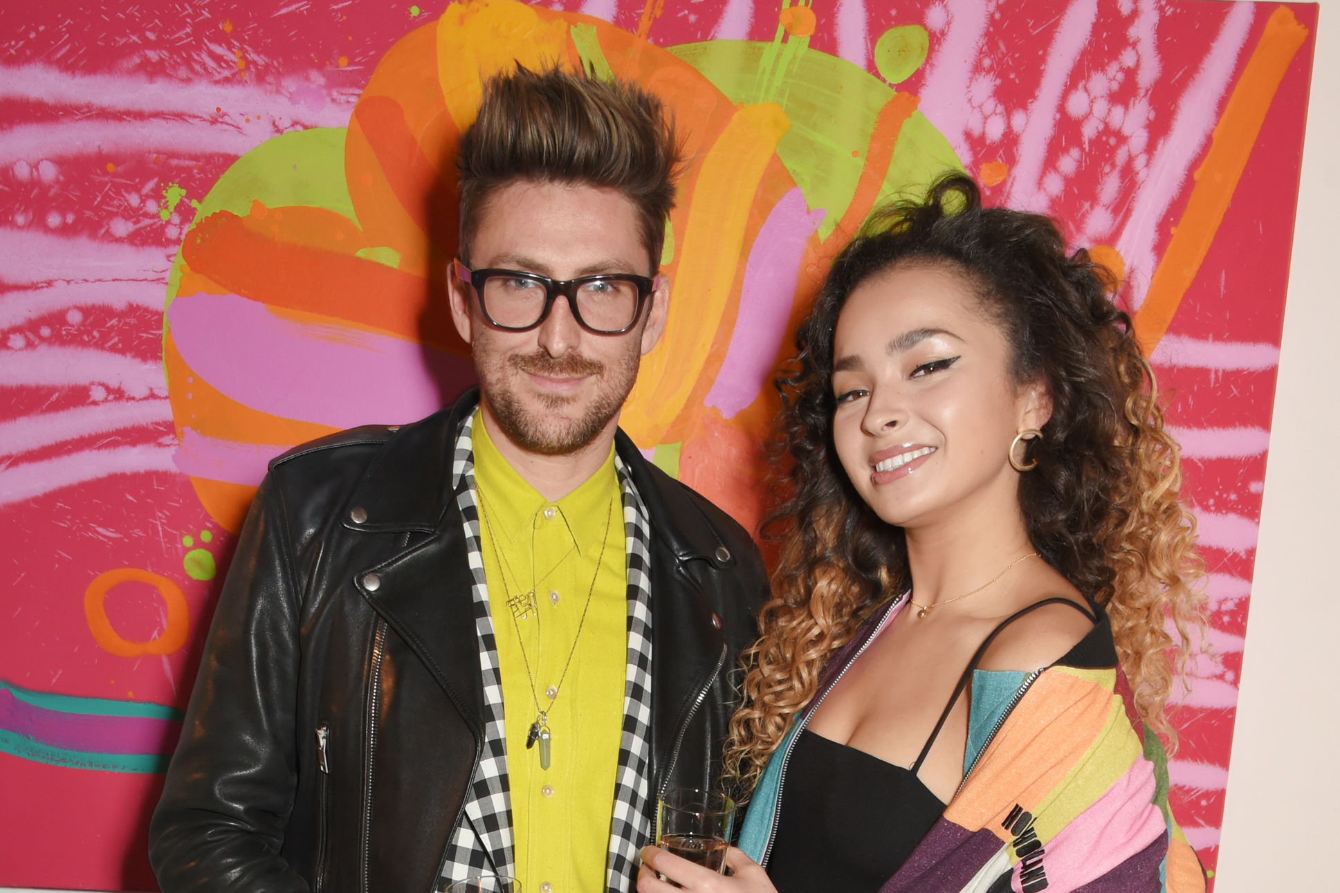 LONDON, ENGLAND - NOVEMBER 23:  Henry Holland (L) and Ella Eyre attend an intimate dinner hosted by Henry Holland and Andrew Nugent to celebrate the House of Holland Resort 18 collection and Bird In Hand wine collaboration at Carousel London on November 23, 2017 in London, England.