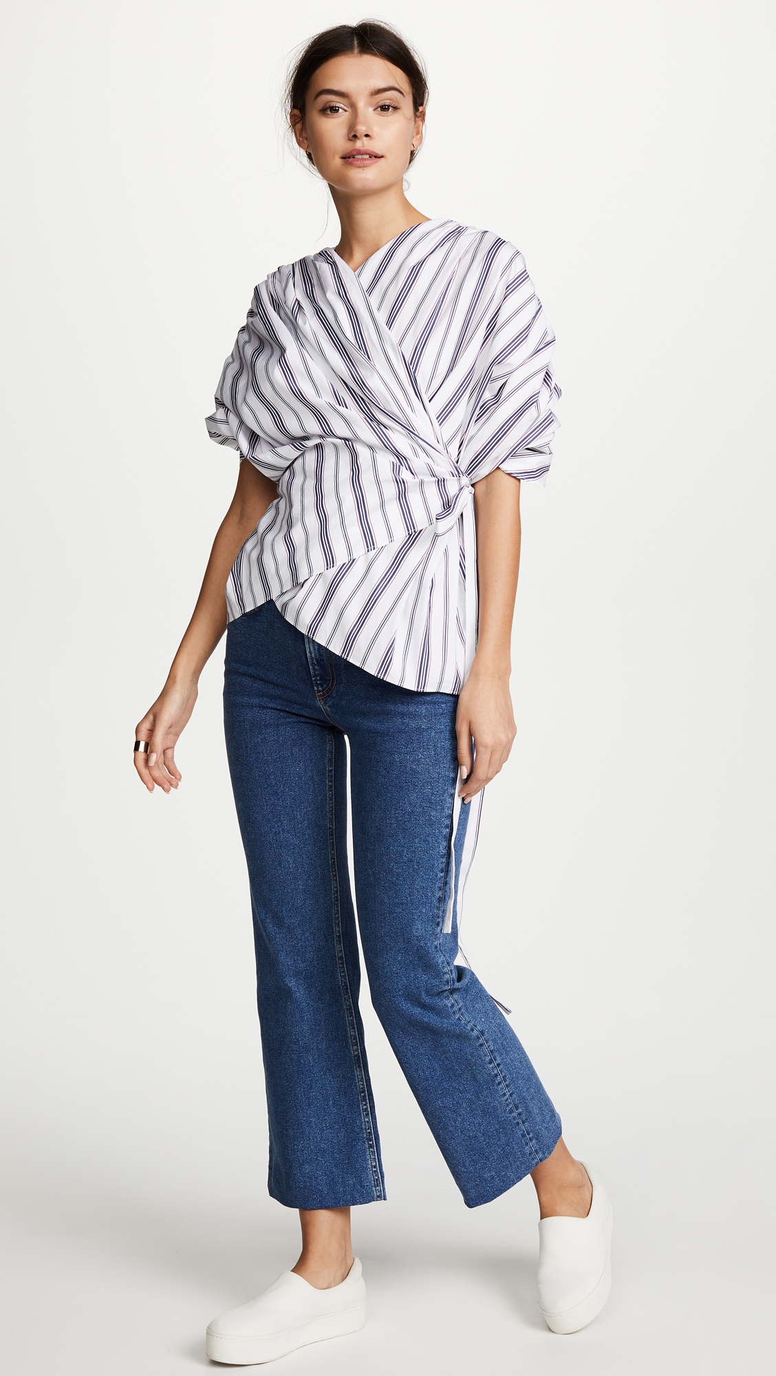 A.W.A.K.E Gathered Top, $273 (was $560)