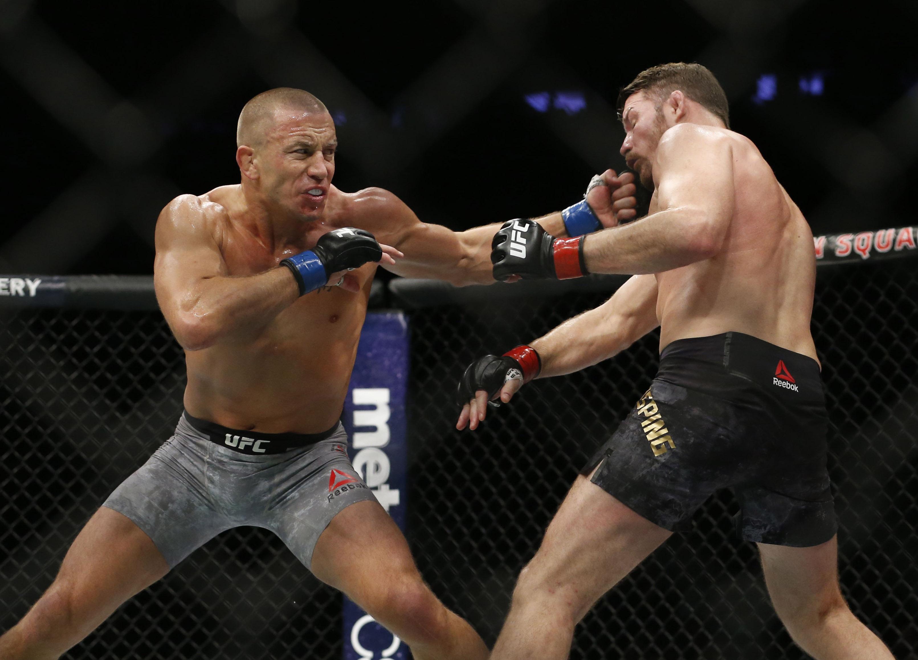 MMA: UFC 217-Bisping vs St-Pierre