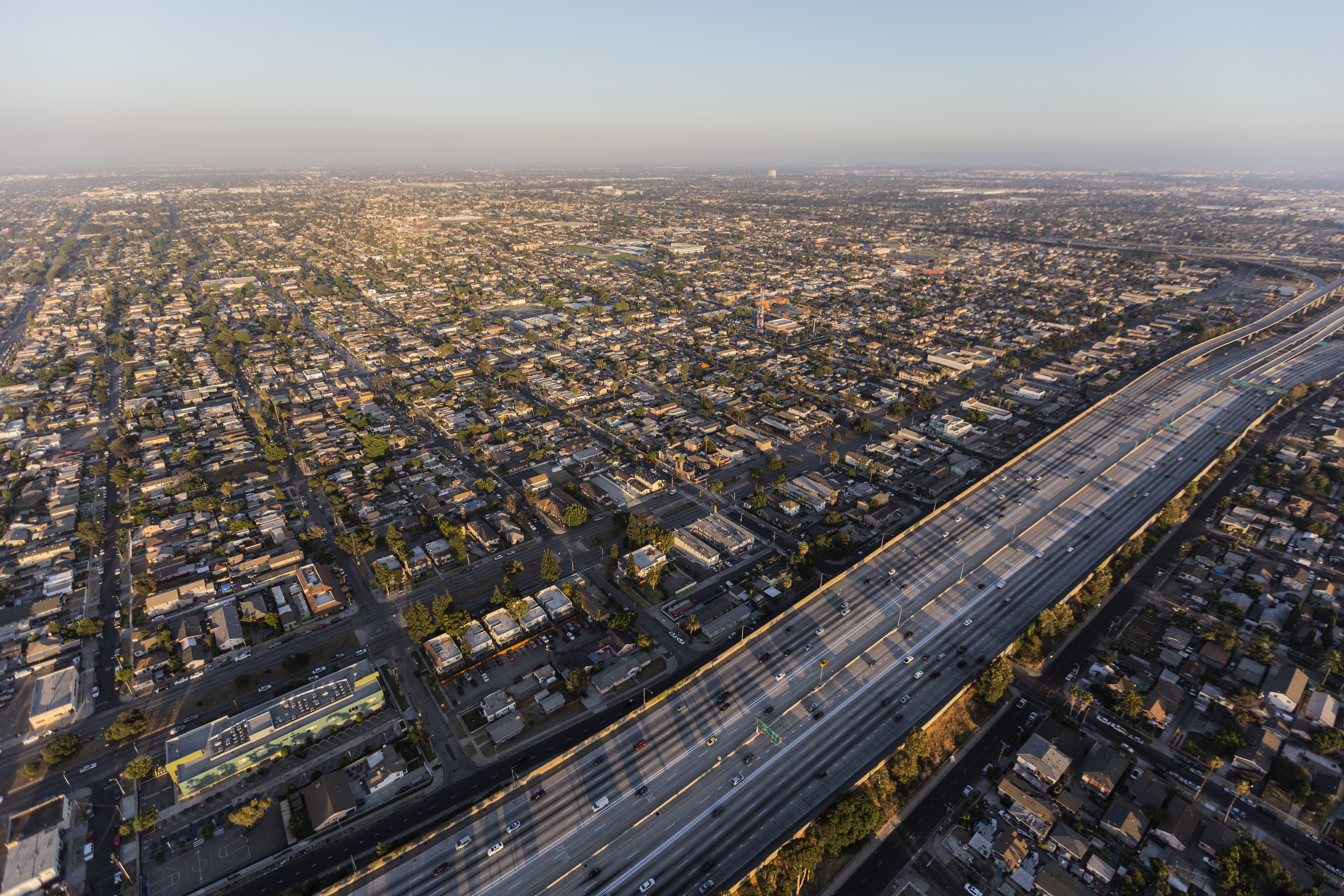 Aerial view of South LA