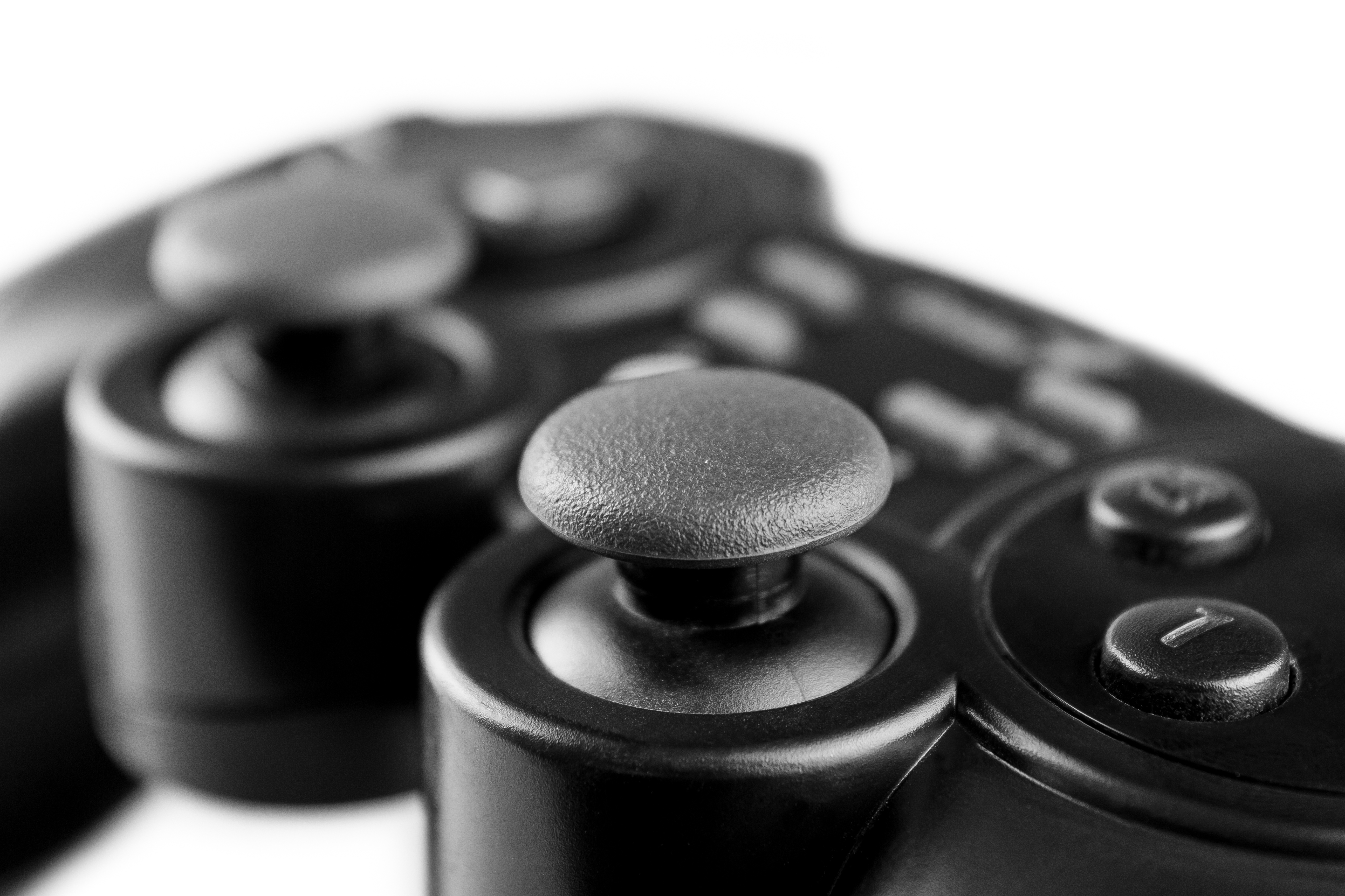 black gamepad in the foreground